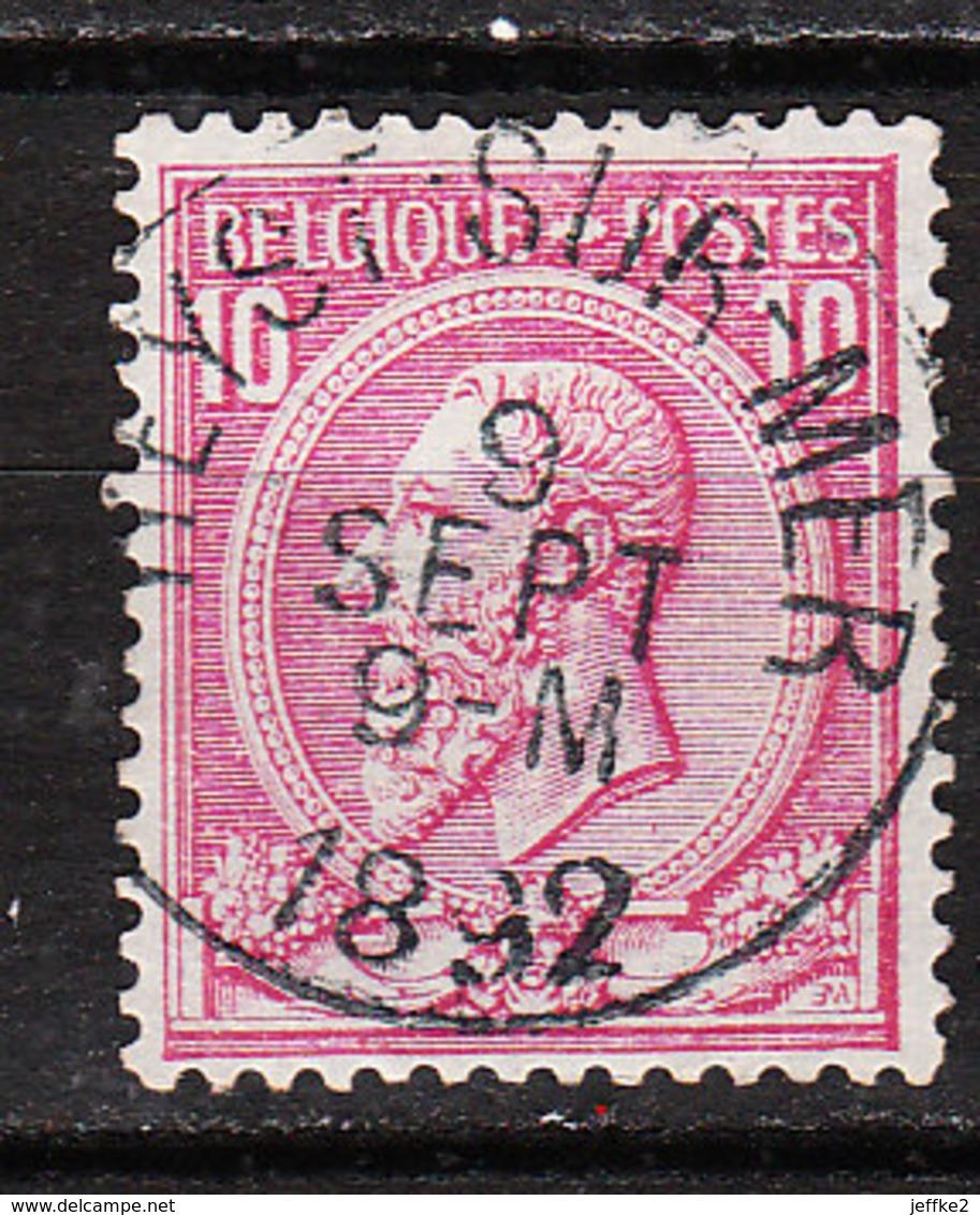 46  Oblitération Centrale HEYST-SUR-MER - LOOK!!!! - 1884-1891 Leopold II