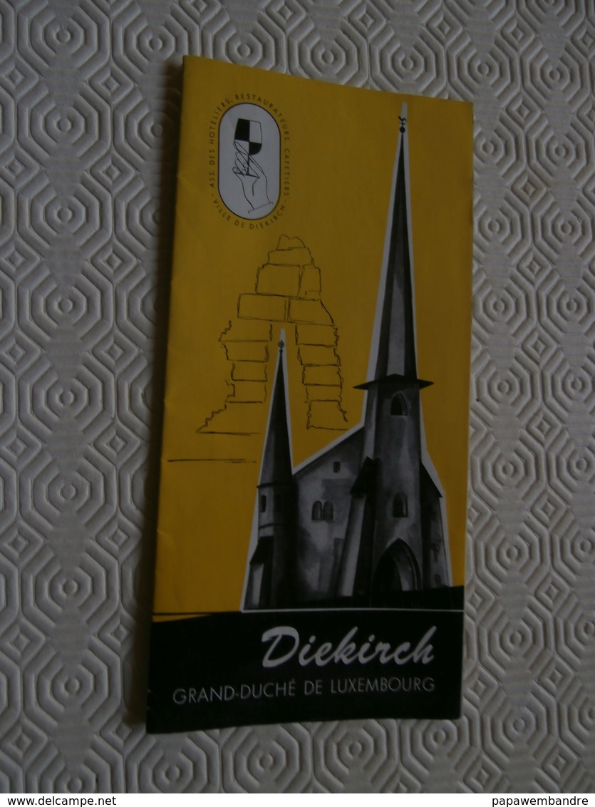 Ancien Dépliant Sur La Ville De Diekirch (Luxembourg) - Reiseprospekte