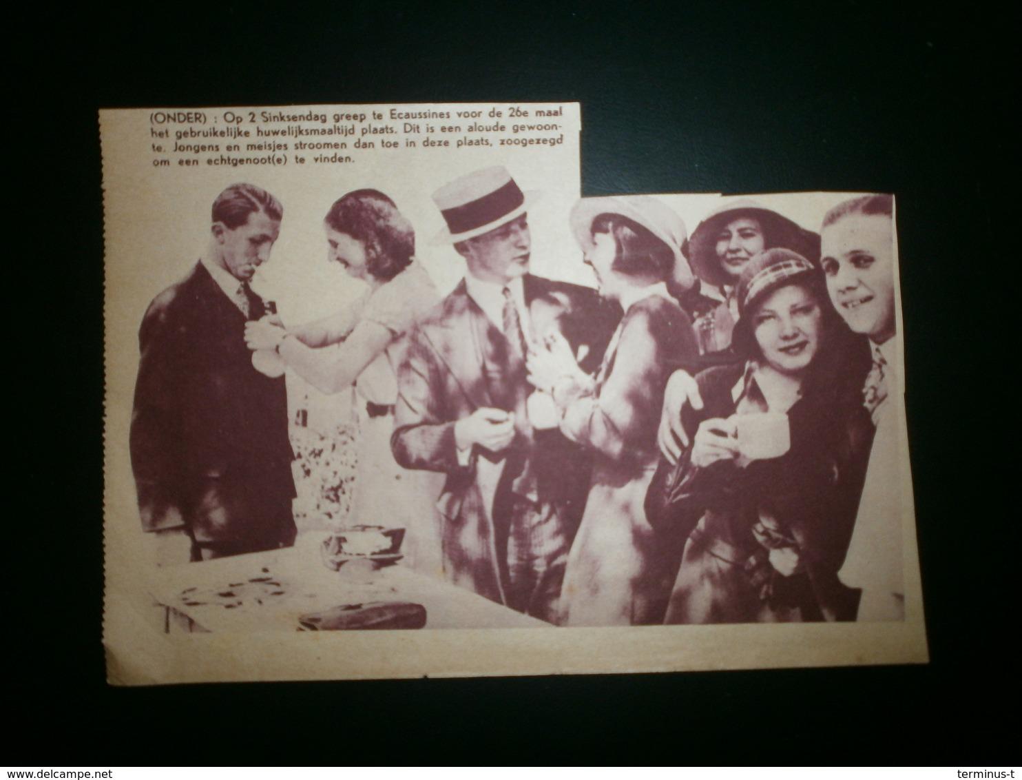 ECAUSSINES. Huwelijksmaaltijd - Documents Historiques