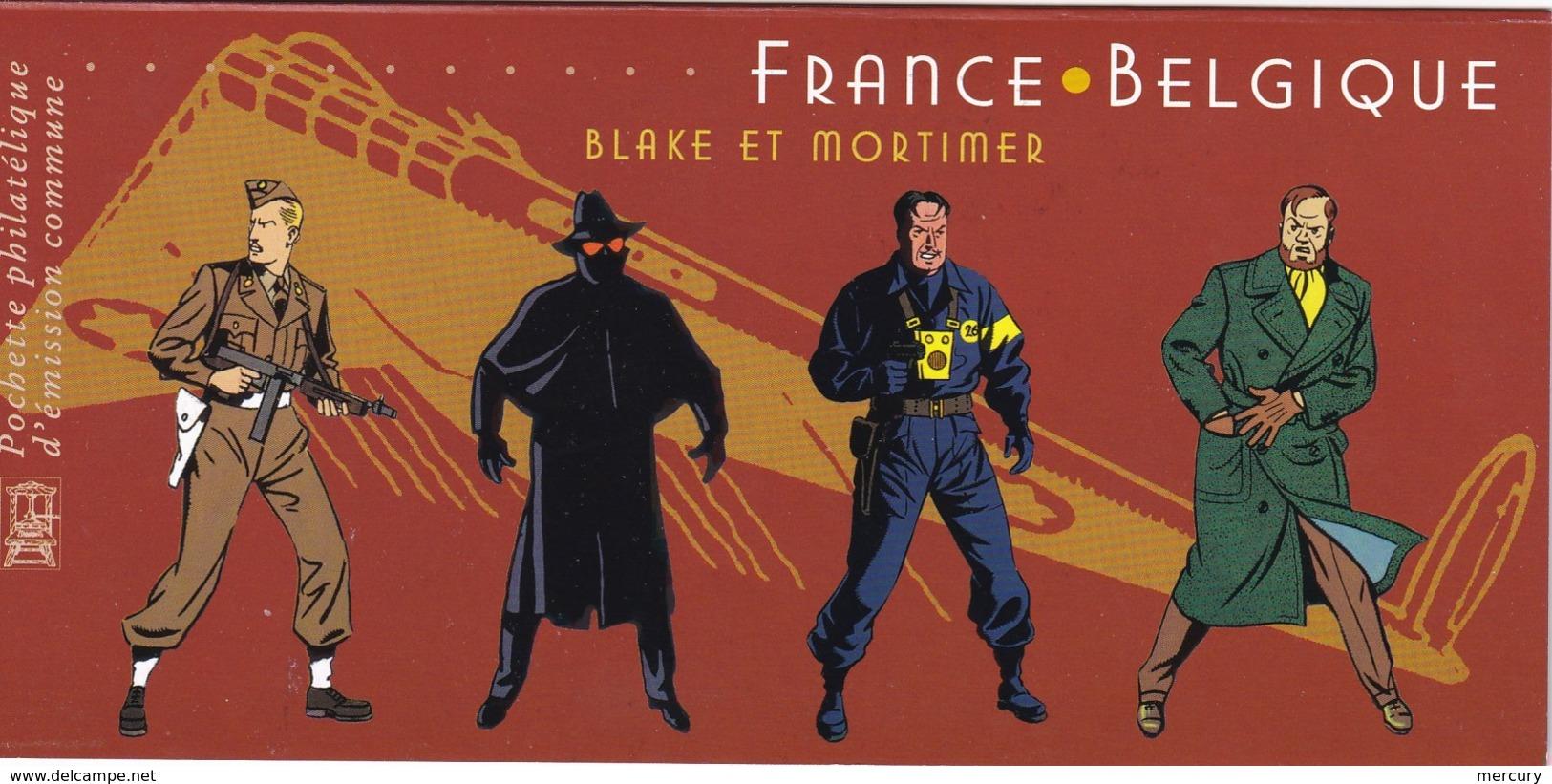 FRANCE - Emission Commune Avec La Belgique - Blake Et Mortimer - 2 Scans - Cartas