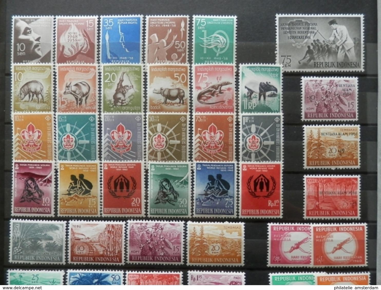 Dutch Antilles, Dutch New Guinea, Surinam, Indonesia - In Stockbook - Postzegels