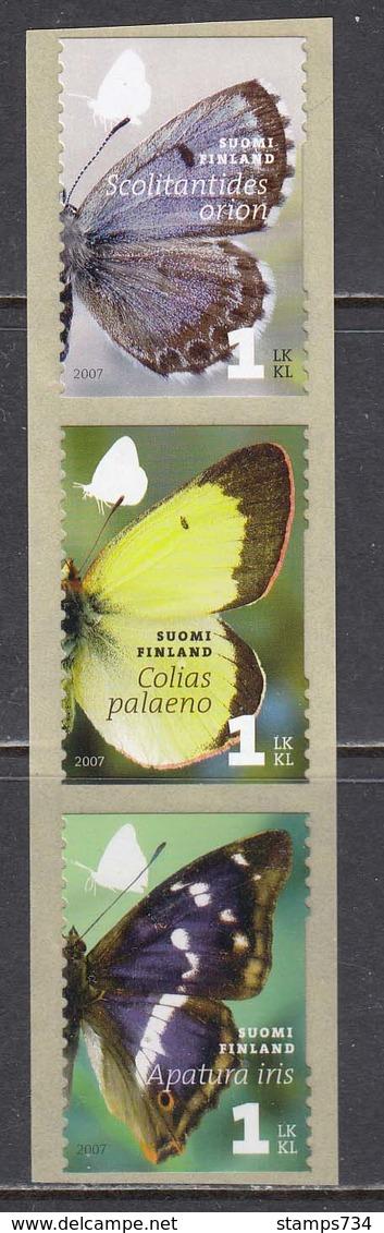 Finland 2007 - Papillons, Mi-Nr. 1861/63, MNH** - Finland