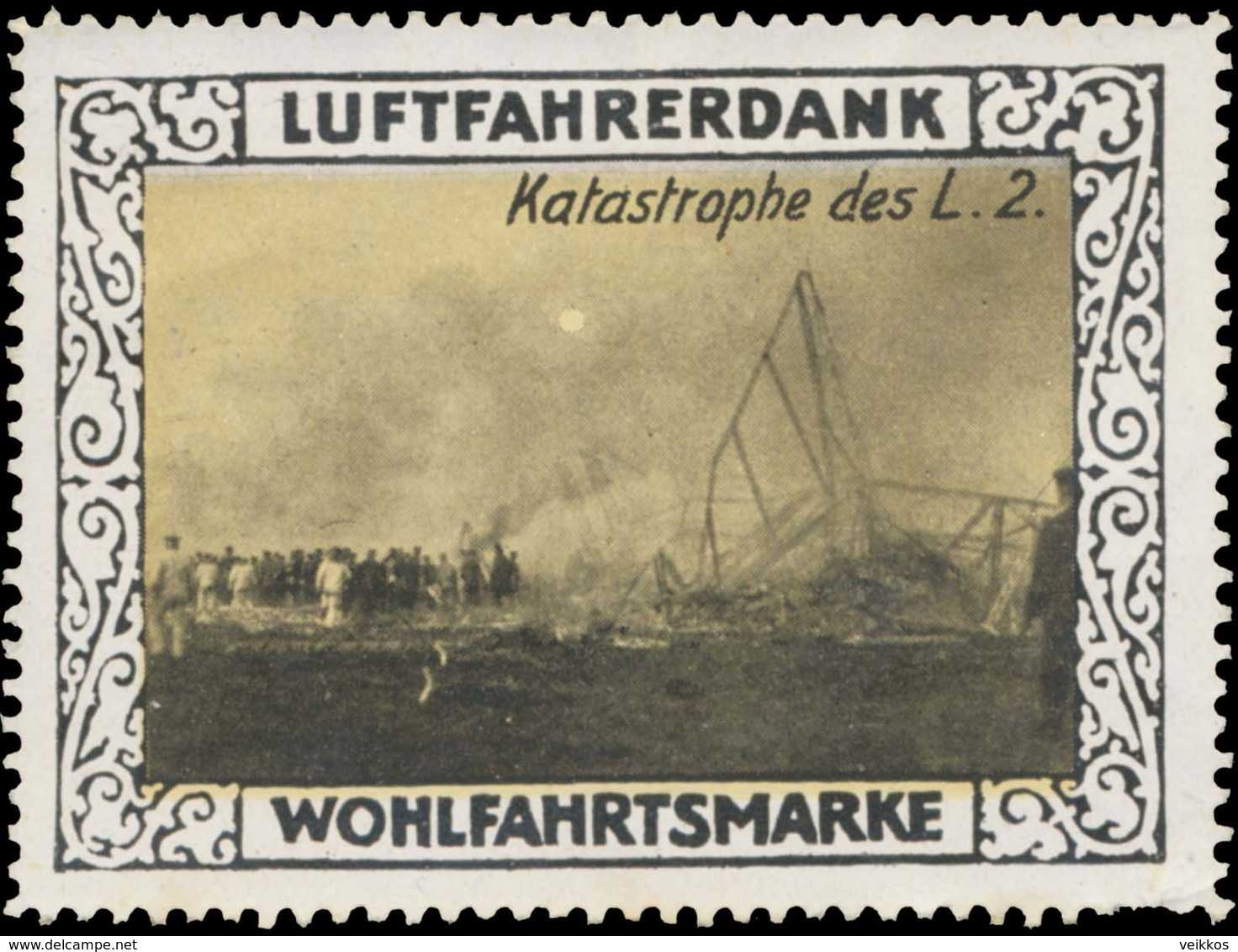 Berlin: Katastrophe Des Zeppelin Luftschiff 2. Reklamemarke - Cinderellas
