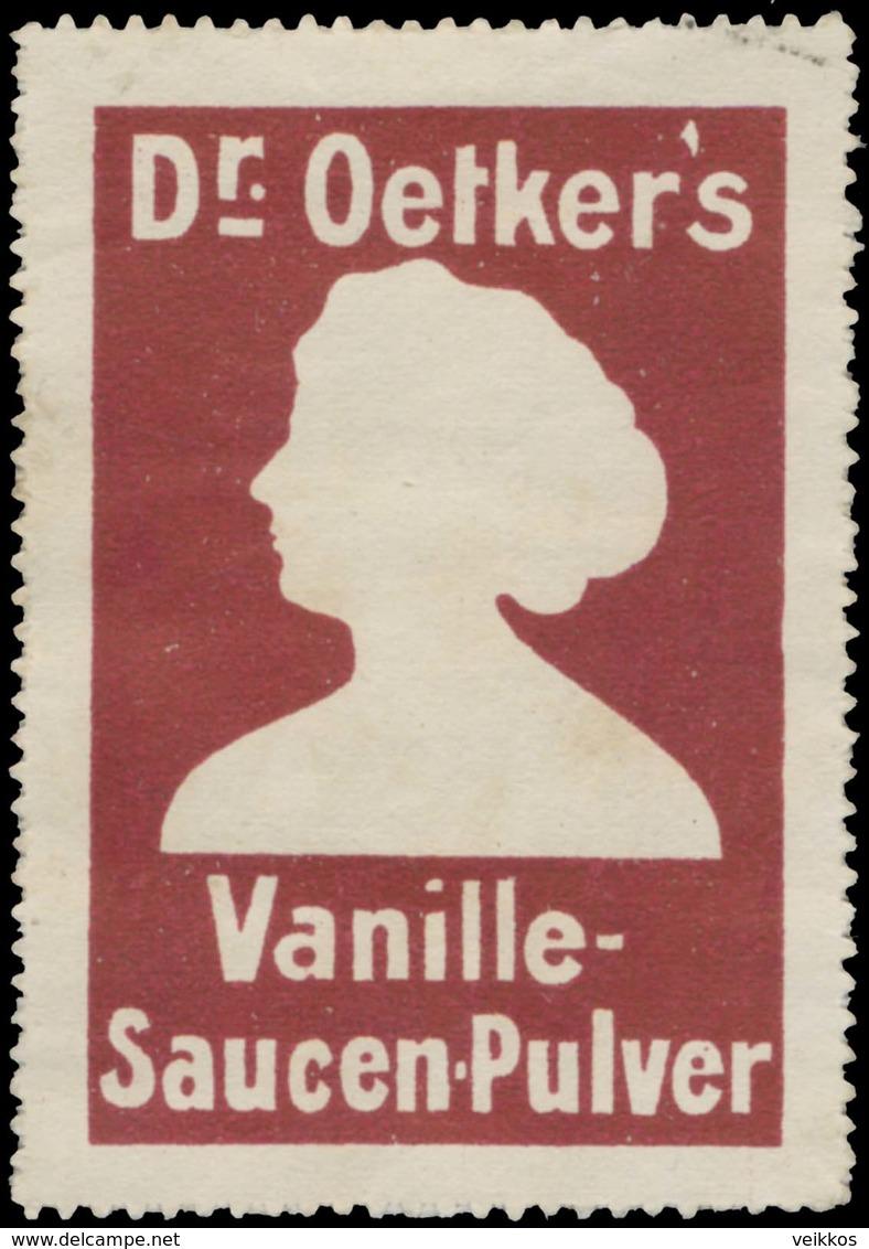 Bielefeld: Dr. Oetkers Vanille Saucen-Pulver Reklamemarke - Cinderellas