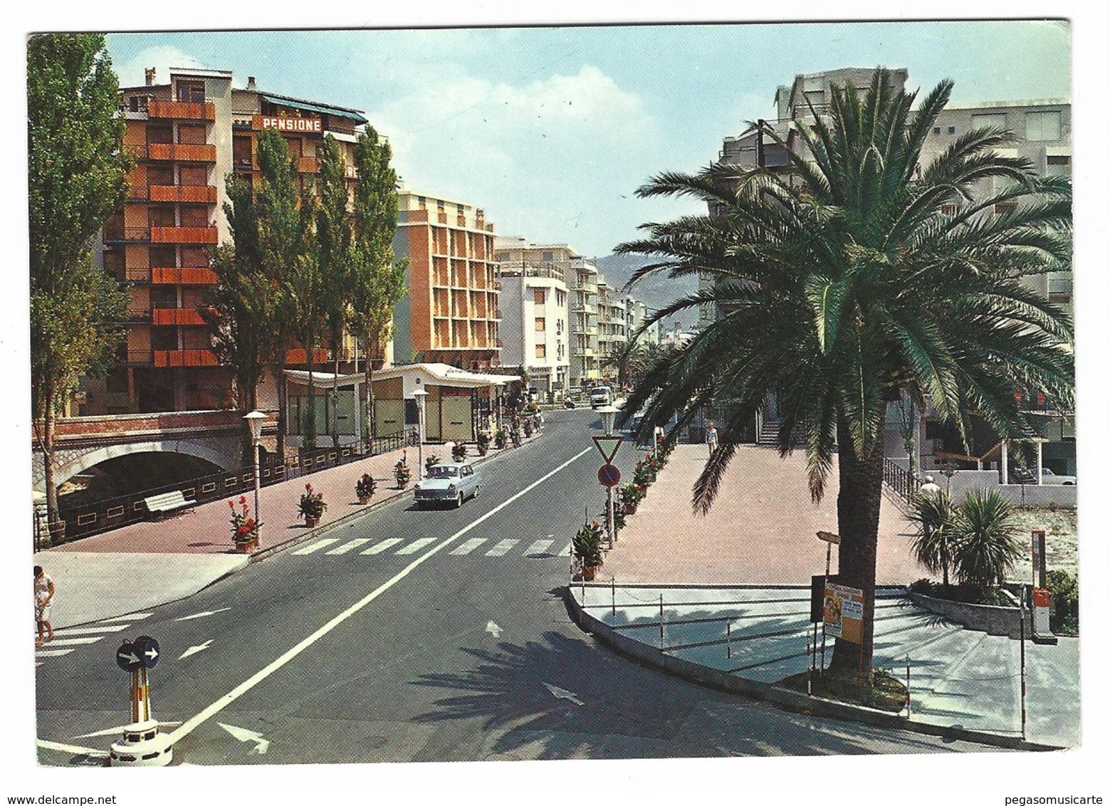 2176 - PIETRA LIGURE SAVONA CORSO ITALIA PONTE MAREMOLA 1962 - Savona