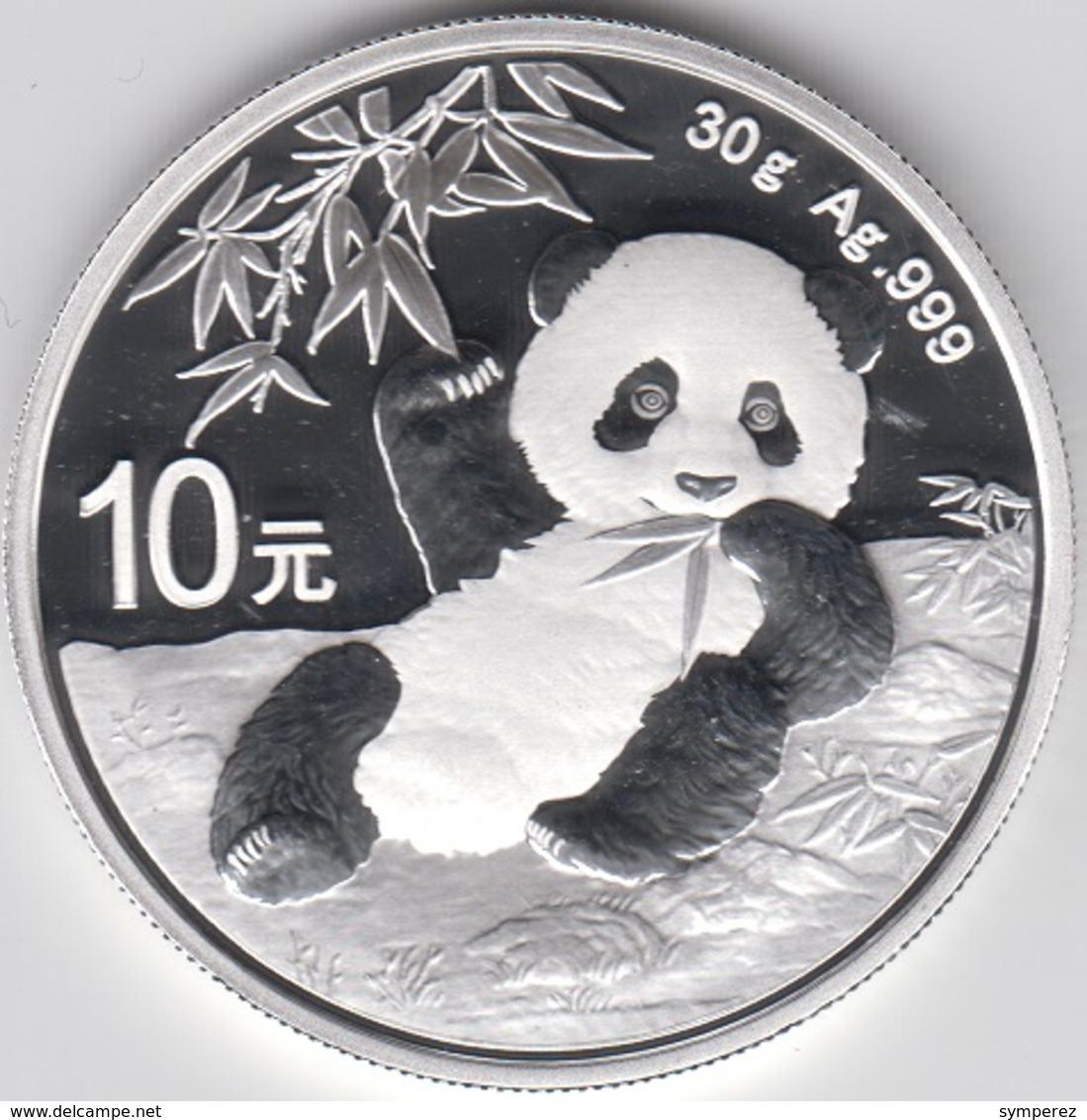 ONZA DE PLATA CHINA 2020 PANDA - Chine