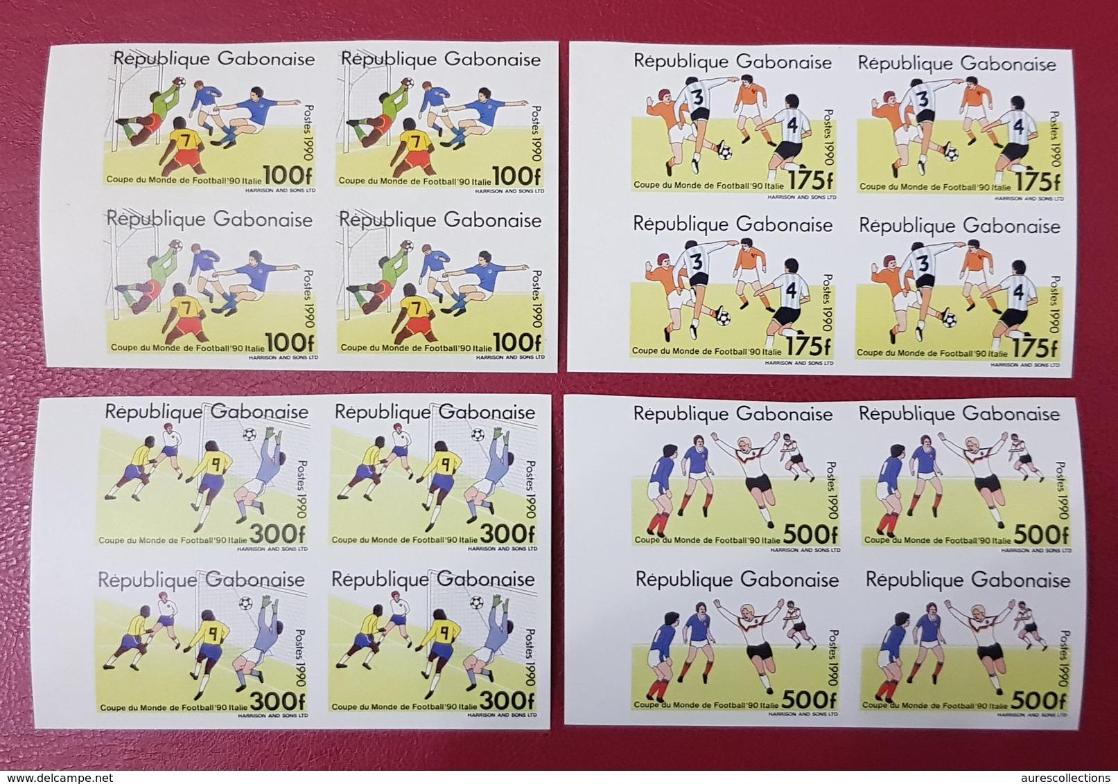 GABON 1990 IMPERF ND MICHEL Mi A / D 1063 A1063 / D1063 SOCCER WORLD CUP ITALY FOOTBALL COUPE MONDE  - MNH - ULTRA RARE - 1990 – Italia