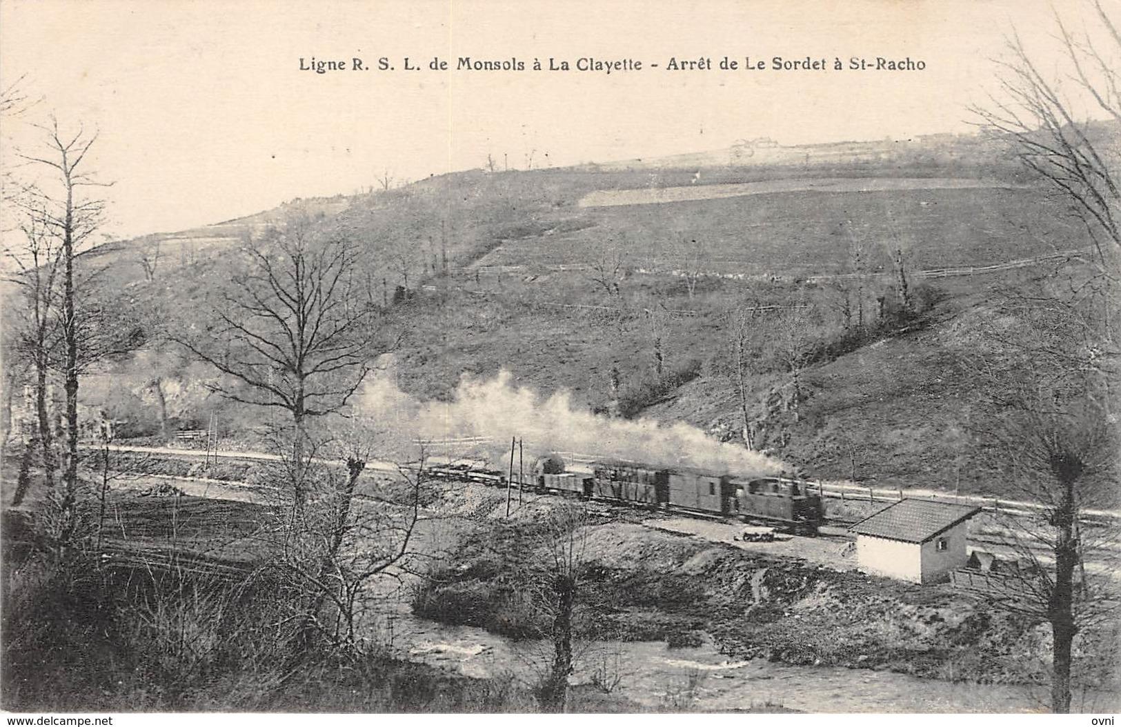 71 -   CPA Ligne R S L De Monsols à La CLAYETTE Arrêt De La Sodet à à St Racho RARE - Autres Communes
