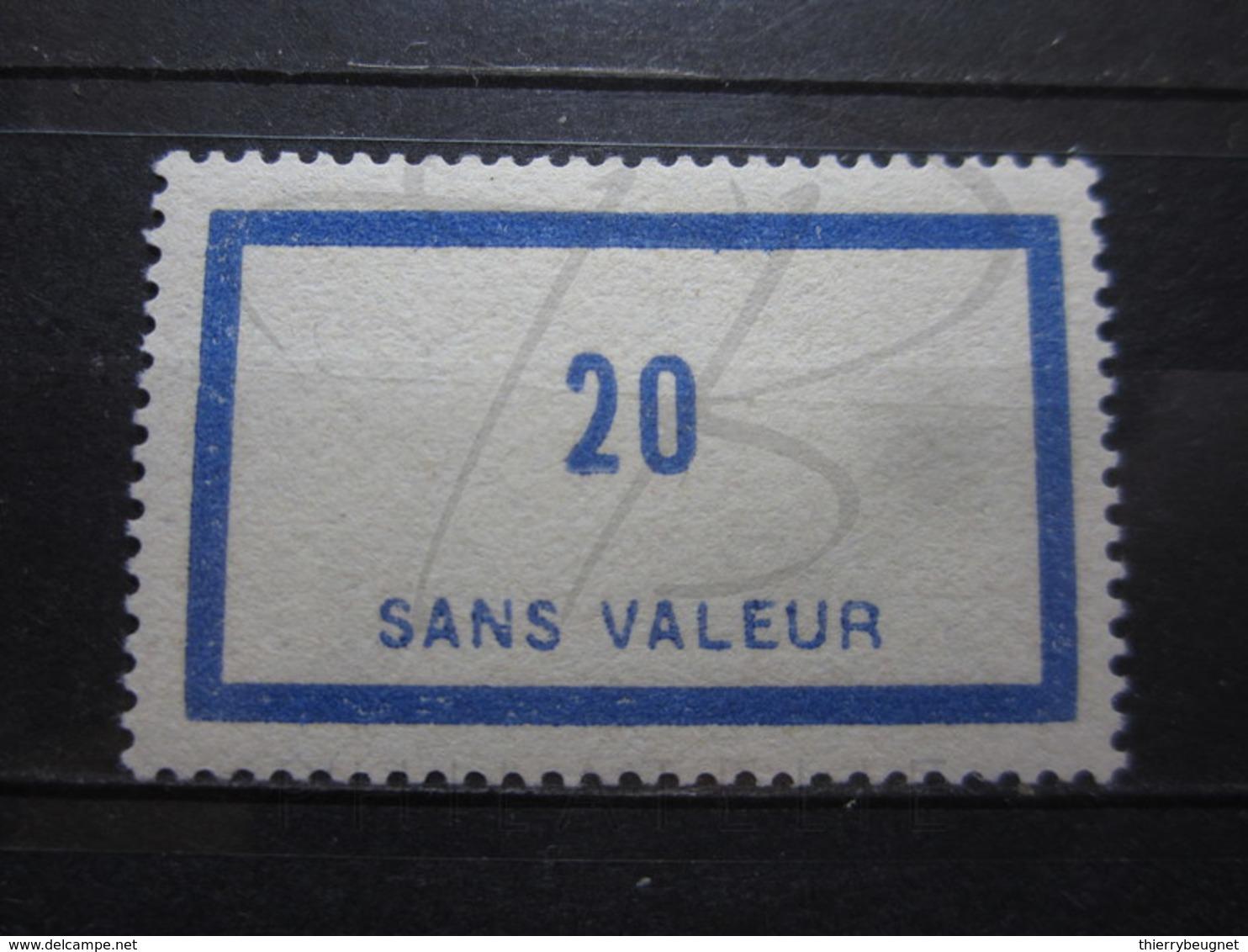 VEND BEAU TIMBRE FICTIF DE FRANCE N° F46 , XX !!! - Phantomausgaben