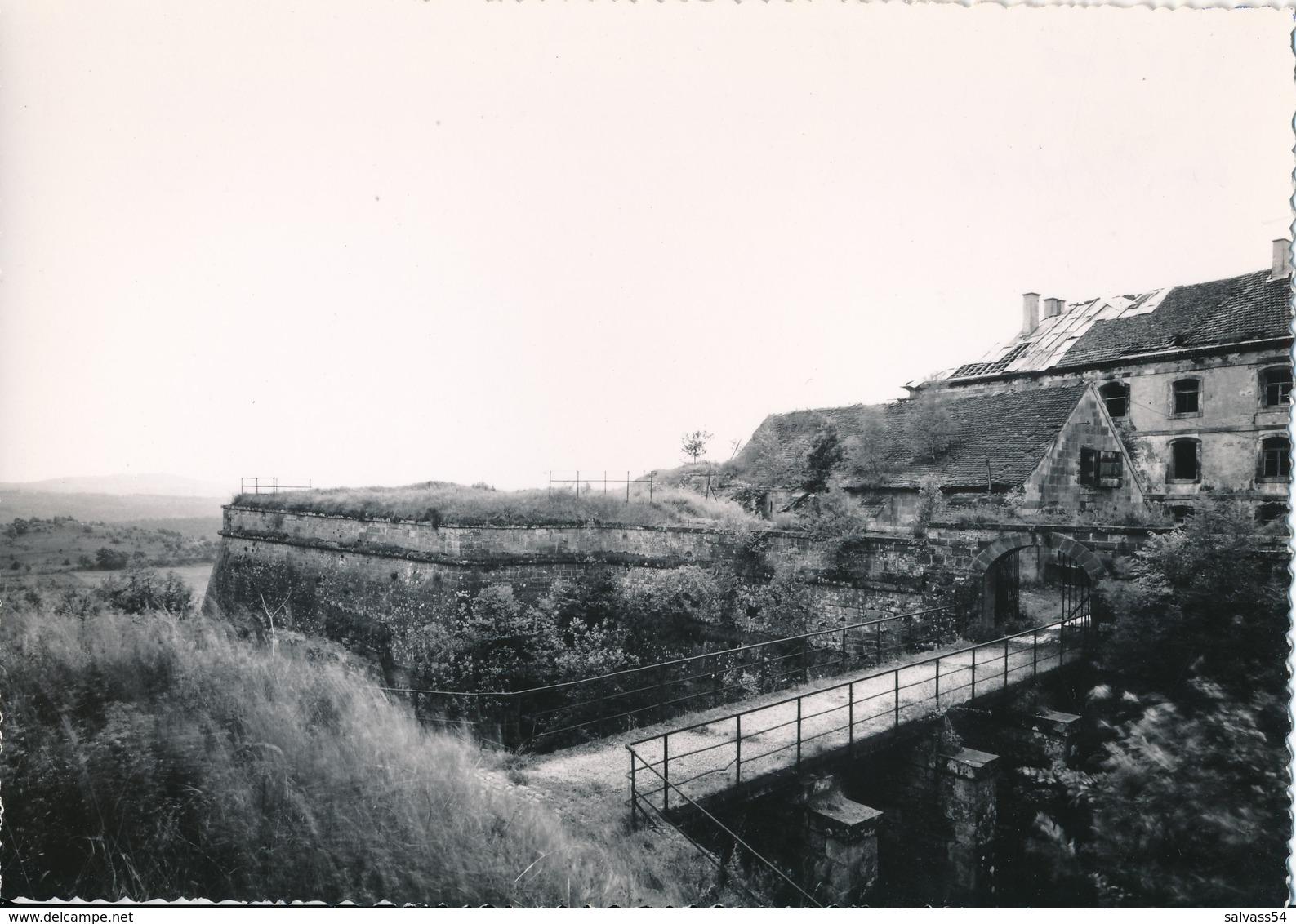 57) BITCHE : Carte-photo - La Citadelle (avril 1954) - - Bitche