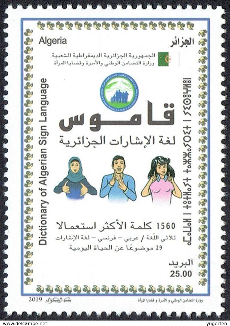 ALGERIA 2019 1v Sign Language Disabled Handicap Deafness Deaf Taubheit Surdité Taub Sordera Dictionary Alphabet - Handicaps