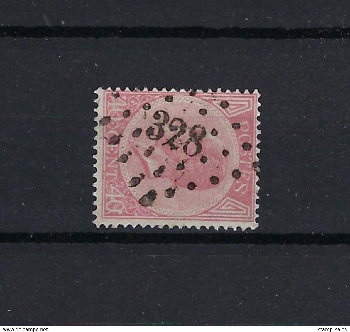 N°20A GESTEMPELD Pt328 St.Nicolas COB € 22,00 COBA € 10,00 SUPERBE - 1865-1866 Perfil Izquierdo
