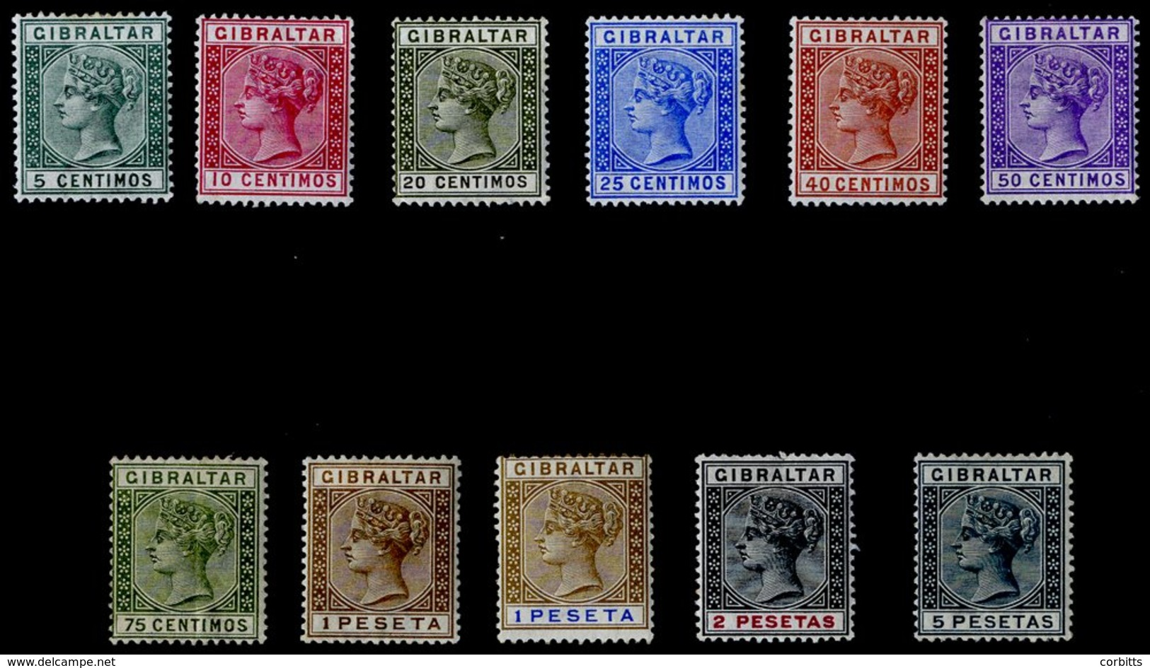 1889-96 Spanish Currency Set (ex 20c, SG.25) Fine M 75c With Vertical Crease, SG.22/33. Cat. £225. (11) - Unclassified