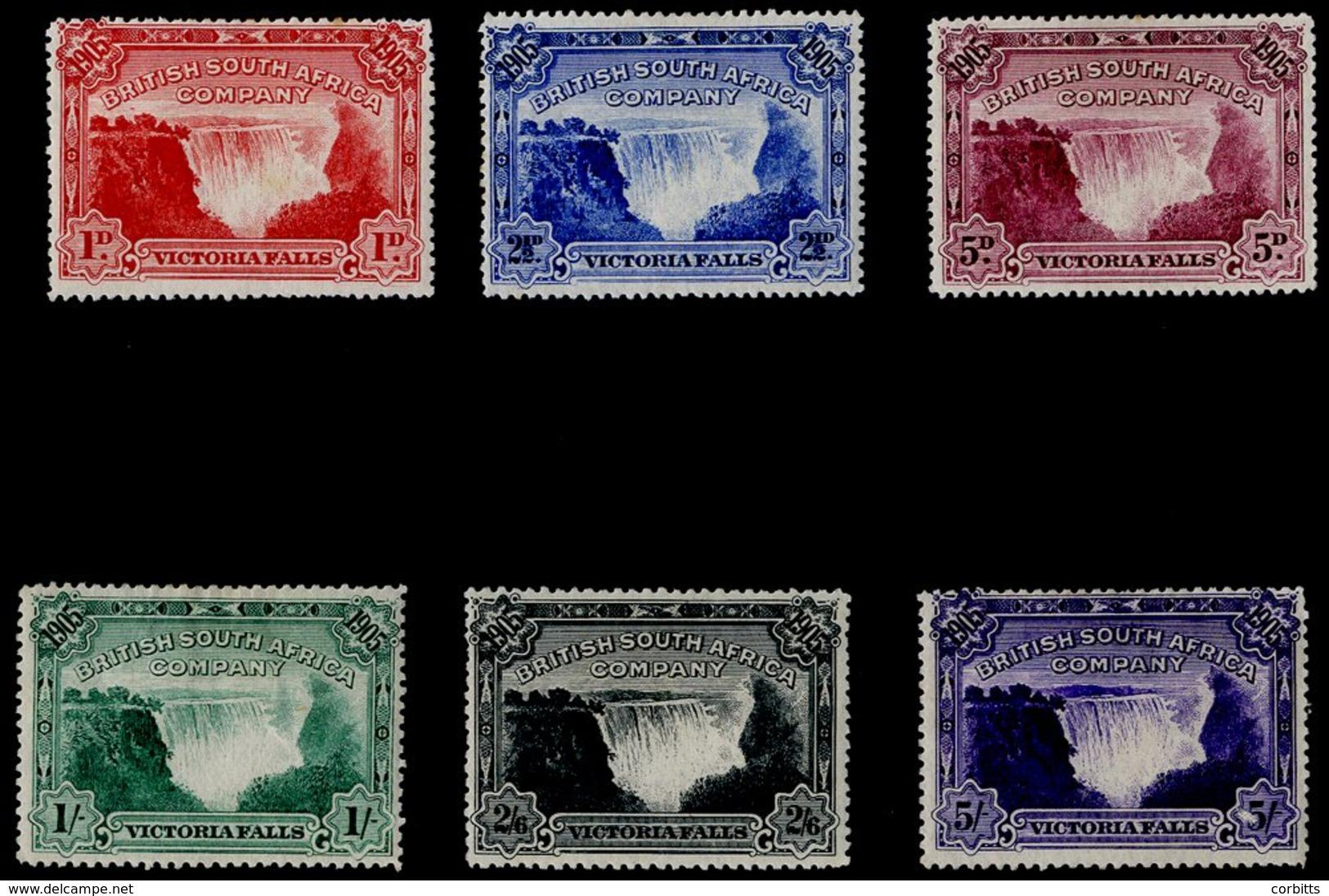 1905 Victoria Falls Set O.g., SG94/9. Cat. £350. (6) - Unclassified