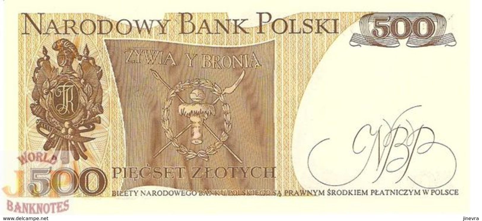 POLAND 500 ZLOTYCH 1982 PICK 145d UNC - Polonia