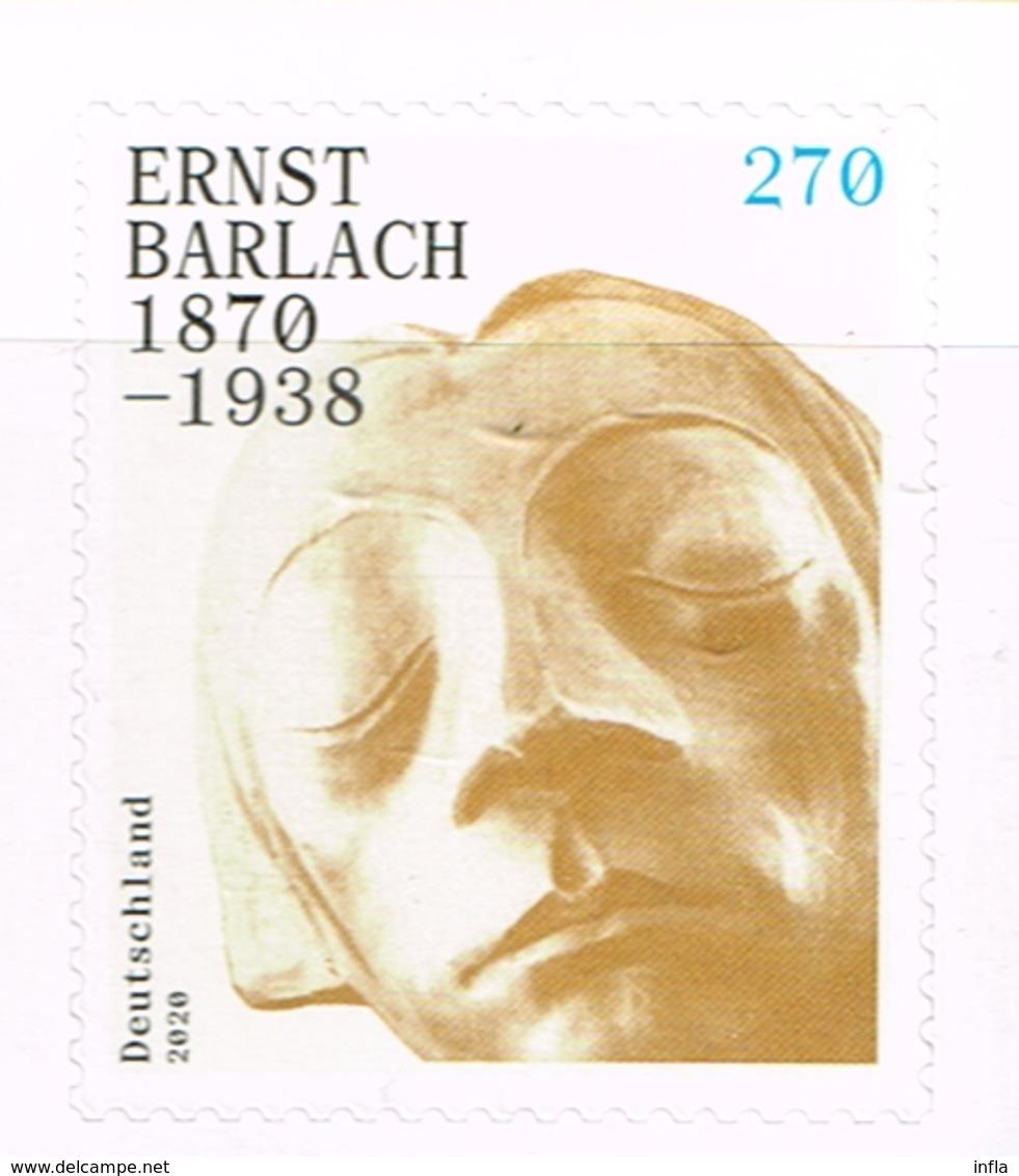 Bund 2020, Michel # 3521 ** 150. Geburtstag Von Ernst Barlach, Selbstklebend - [7] Federal Republic