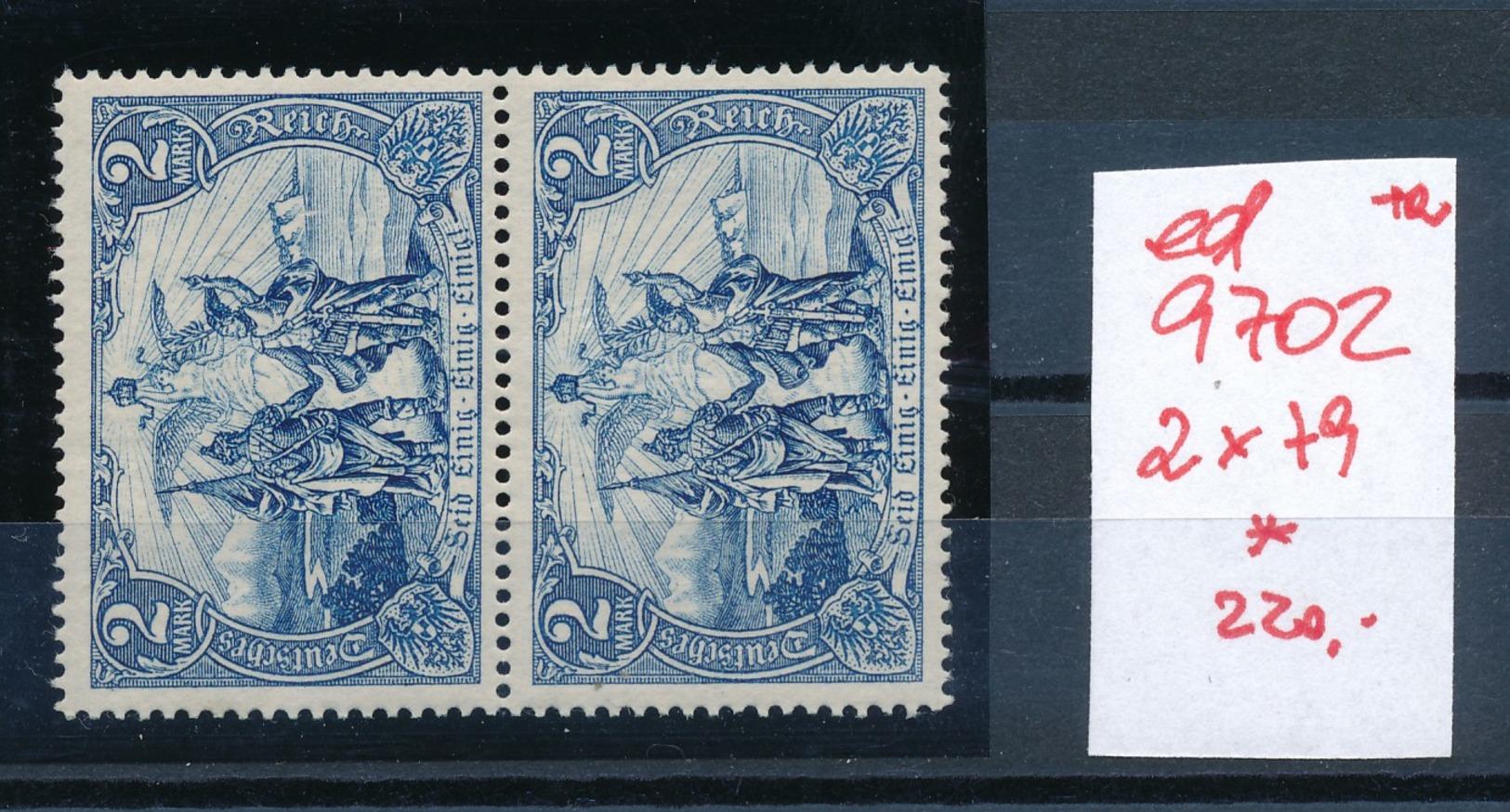 D.-Reich 2x 79  * (ed9702  ) Siehe Scan - Germany