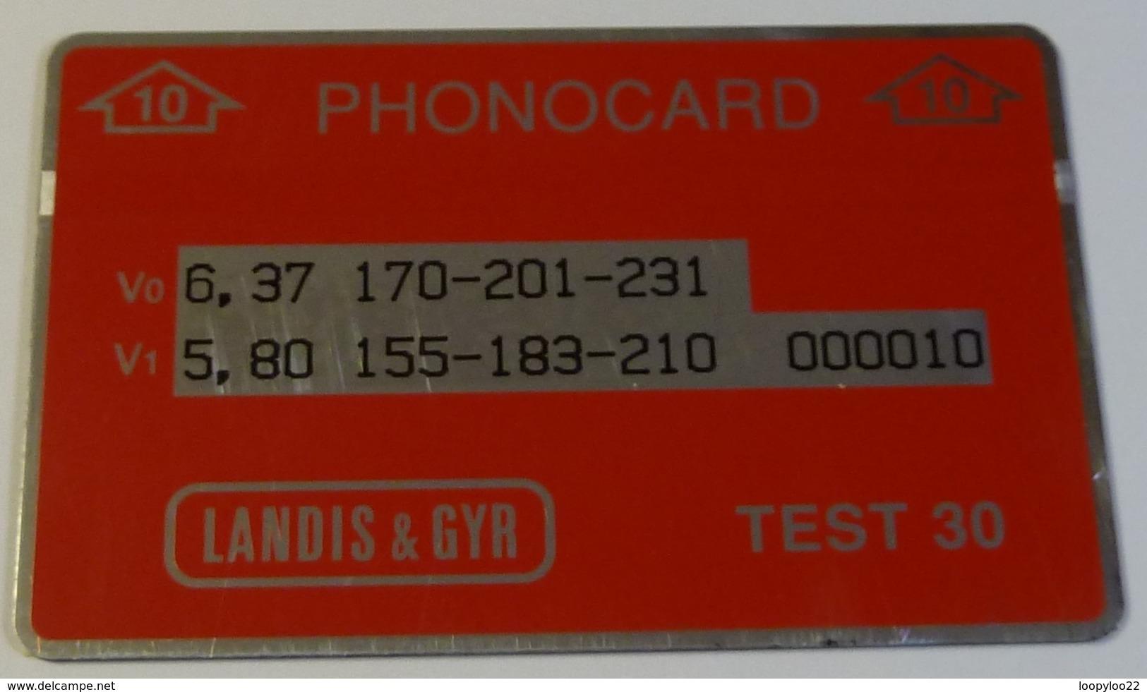 MOROCCO - L&G - Landis & Gyr - ENGINEER TEST - 10ex - RRR - Marruecos