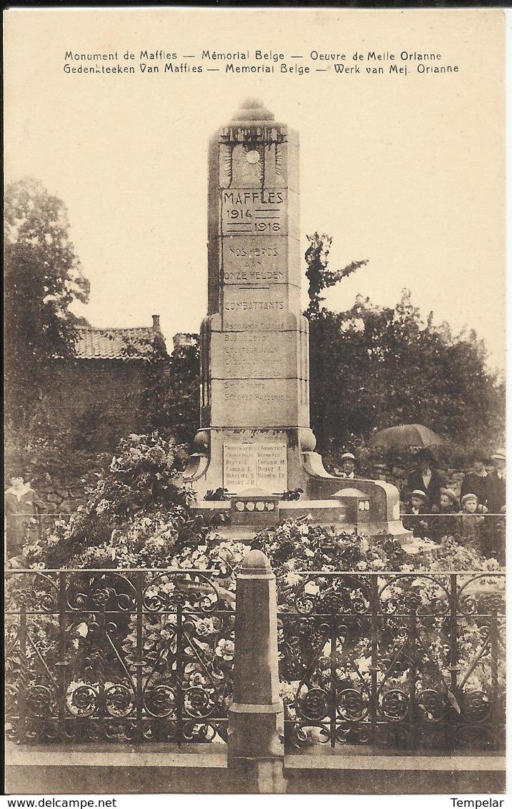 Maffle (Ath) - Monument De Maffles - Mémorial Belge - Oeuvre De Melle Orianne (Mémorial 14-18) - Ath