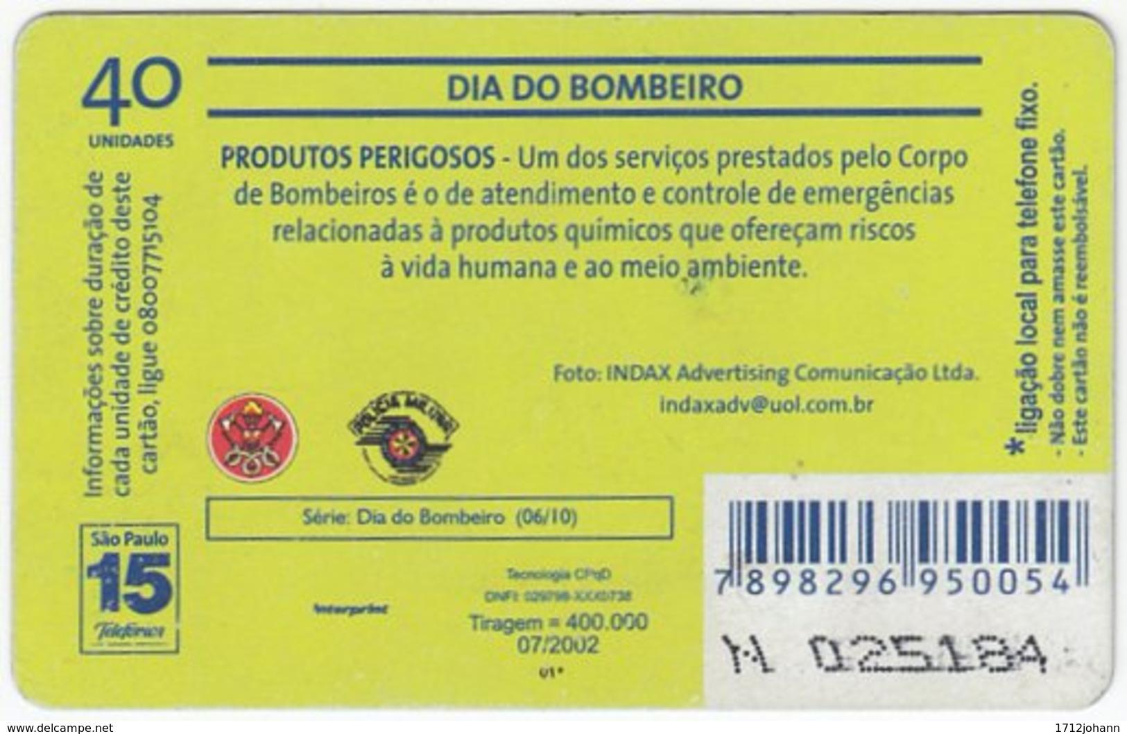 BRASIL K-609 Magnetic Telefonica - Gouverment, Fire Department - Used - Brasilien
