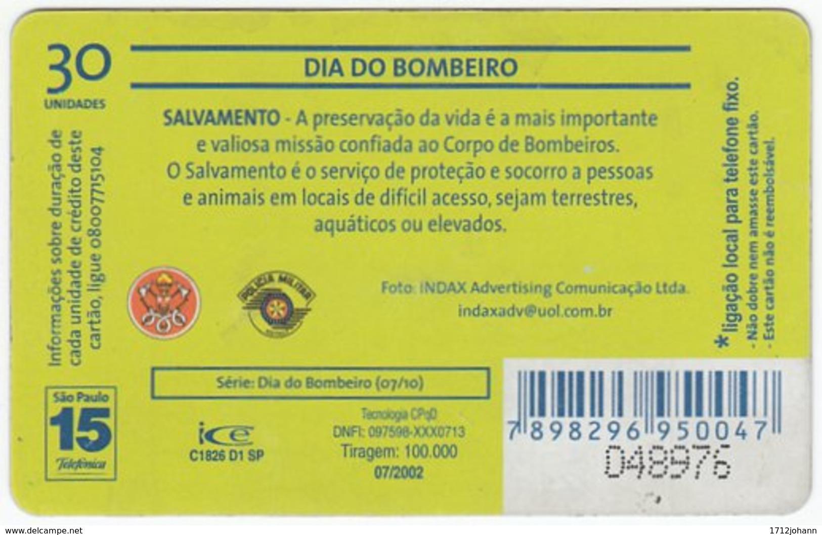 BRASIL K-610 Magnetic Telefonica - Gouverment, Fire Department - Used - Brasilien