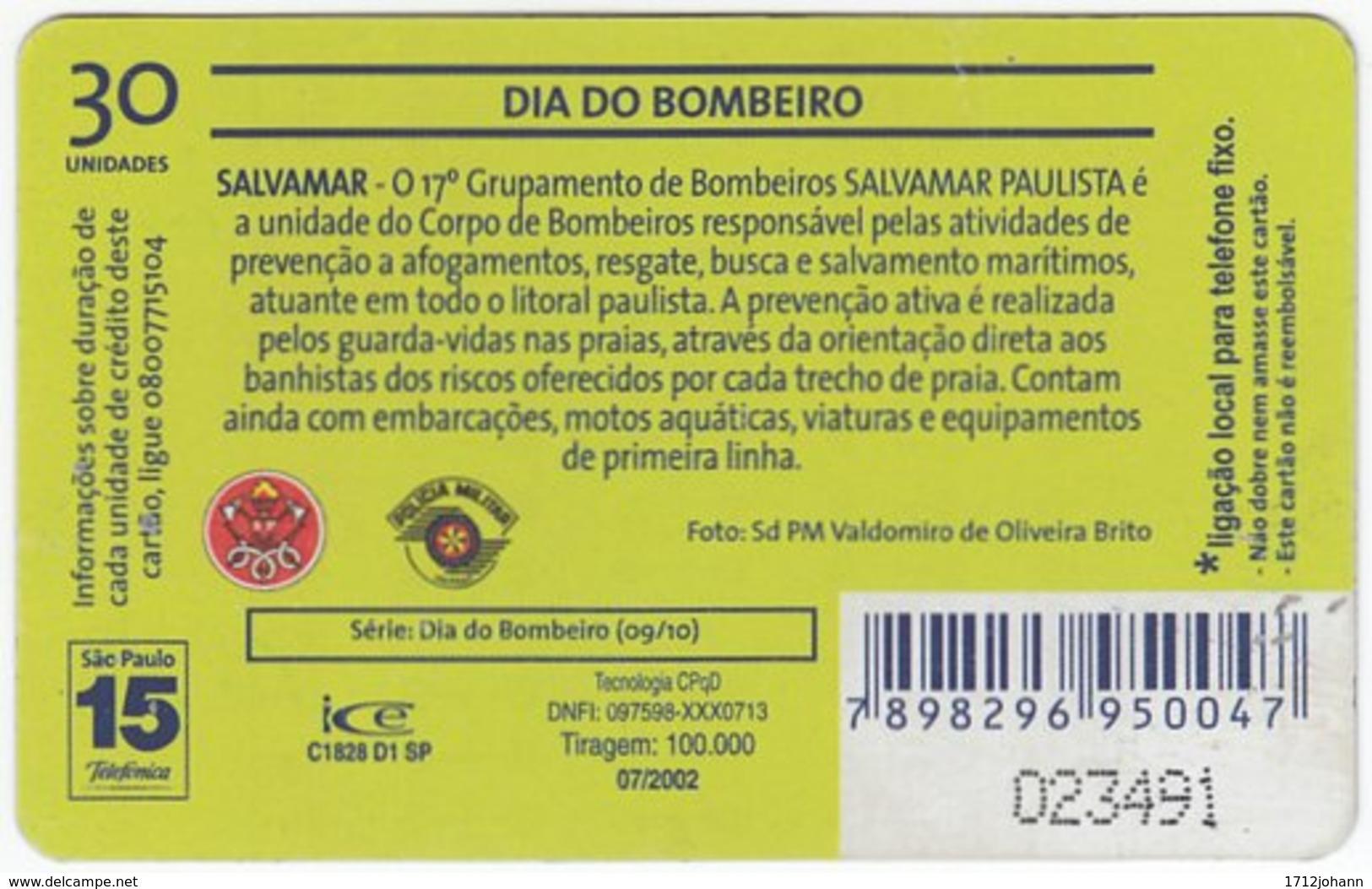 BRASIL K-612 Magnetic Telefonica - Gouverment, Fire Department - Used - Brasilien