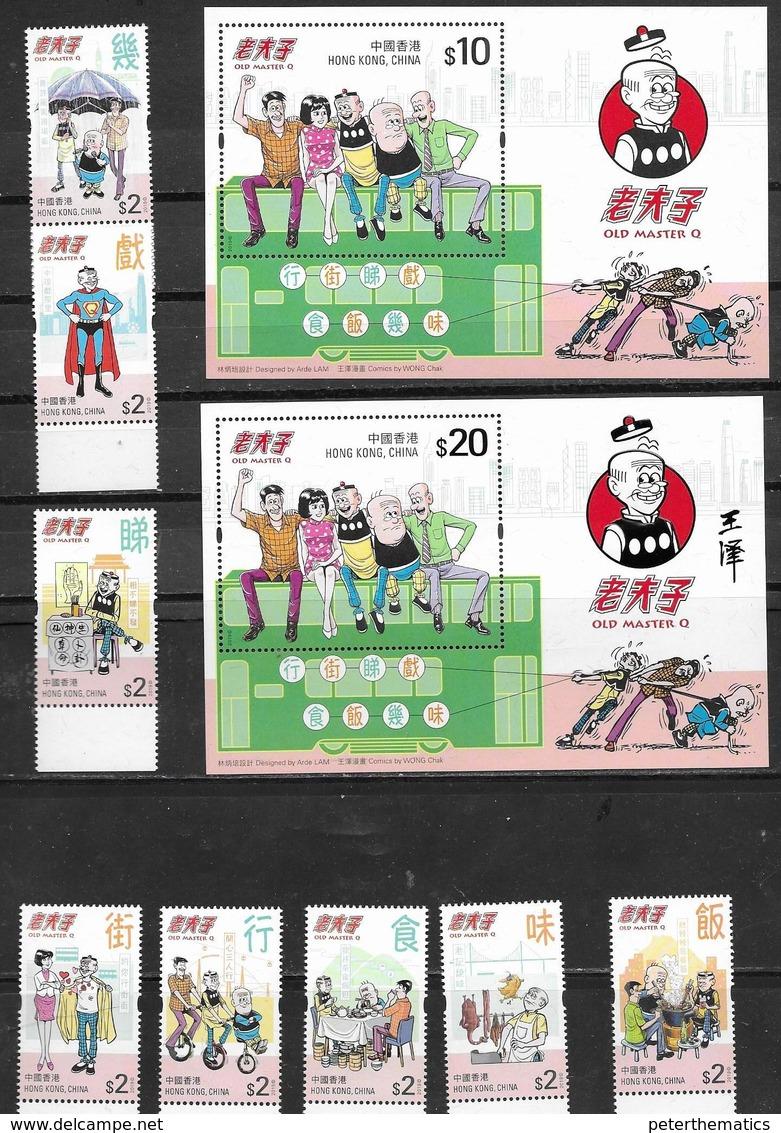 HONG KONG, 2019, MNH,MASTER Q, CARTOONS, COMICS, 8v+ 2 S/SHEETS - Bandes Dessinées