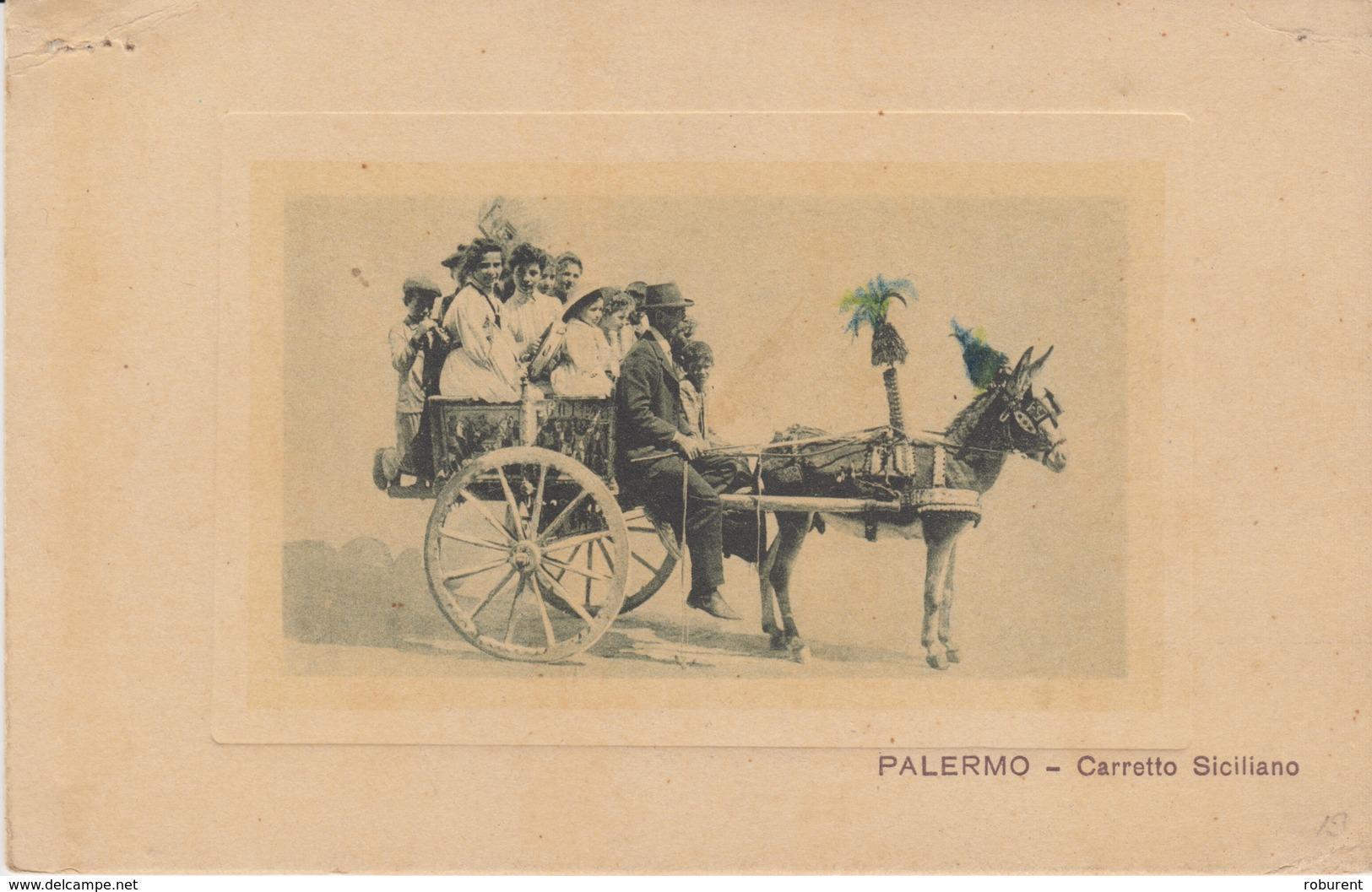 CARTOLINA - PALERMO - CARRETTO SICILIANO - Palermo