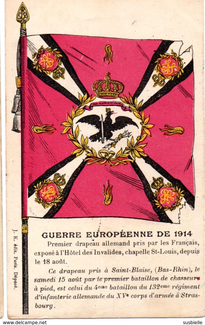 CPA  - GUERRE 1914/1918  -  1er Drapeau Bavarois Pris Par Le 10e Bataillon De Chasseurs à Pied à Saint Blaise- Circulé - Guerre 1914-18