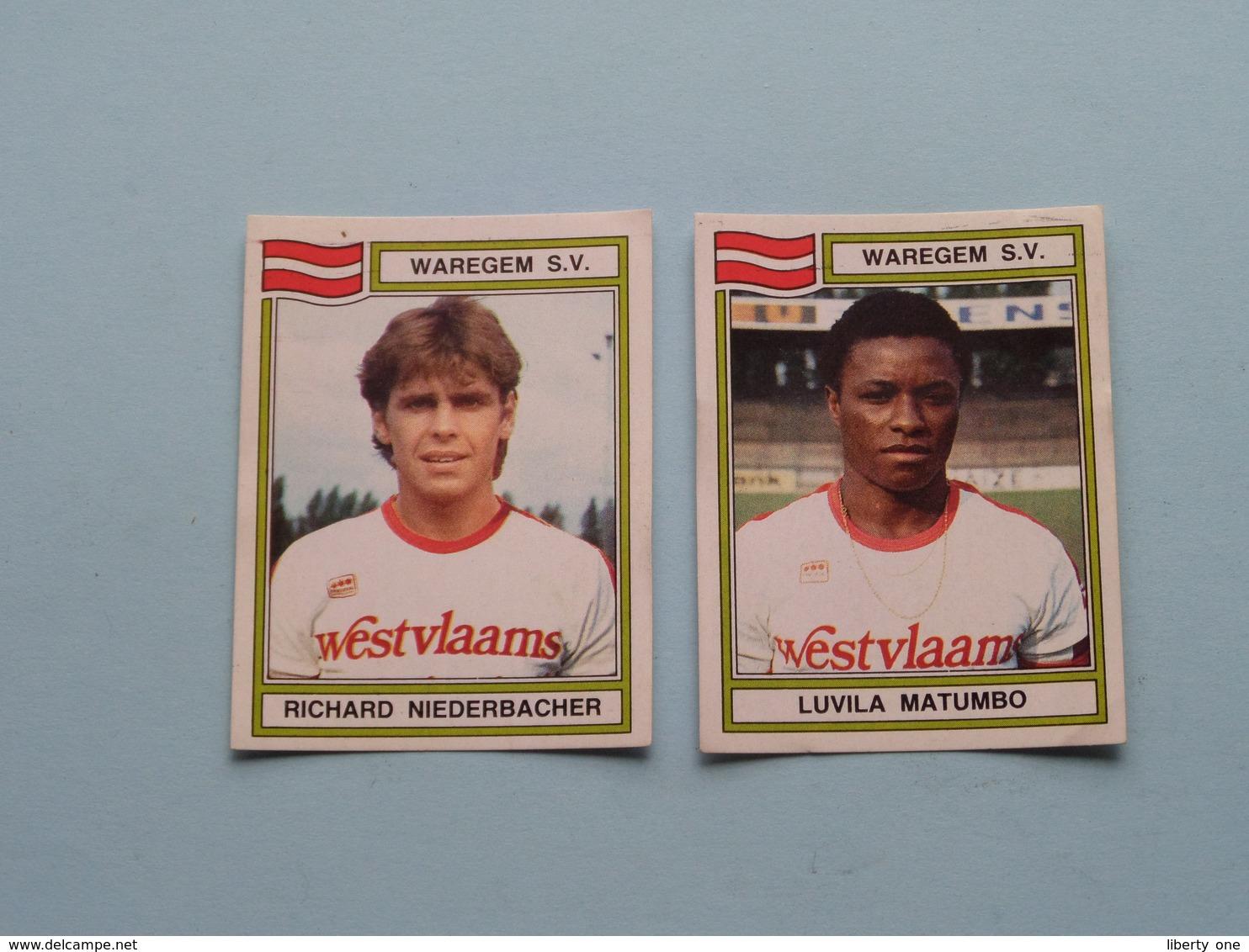 WAREGEM S.V. ( Luvila MATUMBO & Richard NIEDERBACHER ) > FOOTBALL 84 ( Nrs. 304 - 307 ) - Figurine PANINI ! - Trading Cards