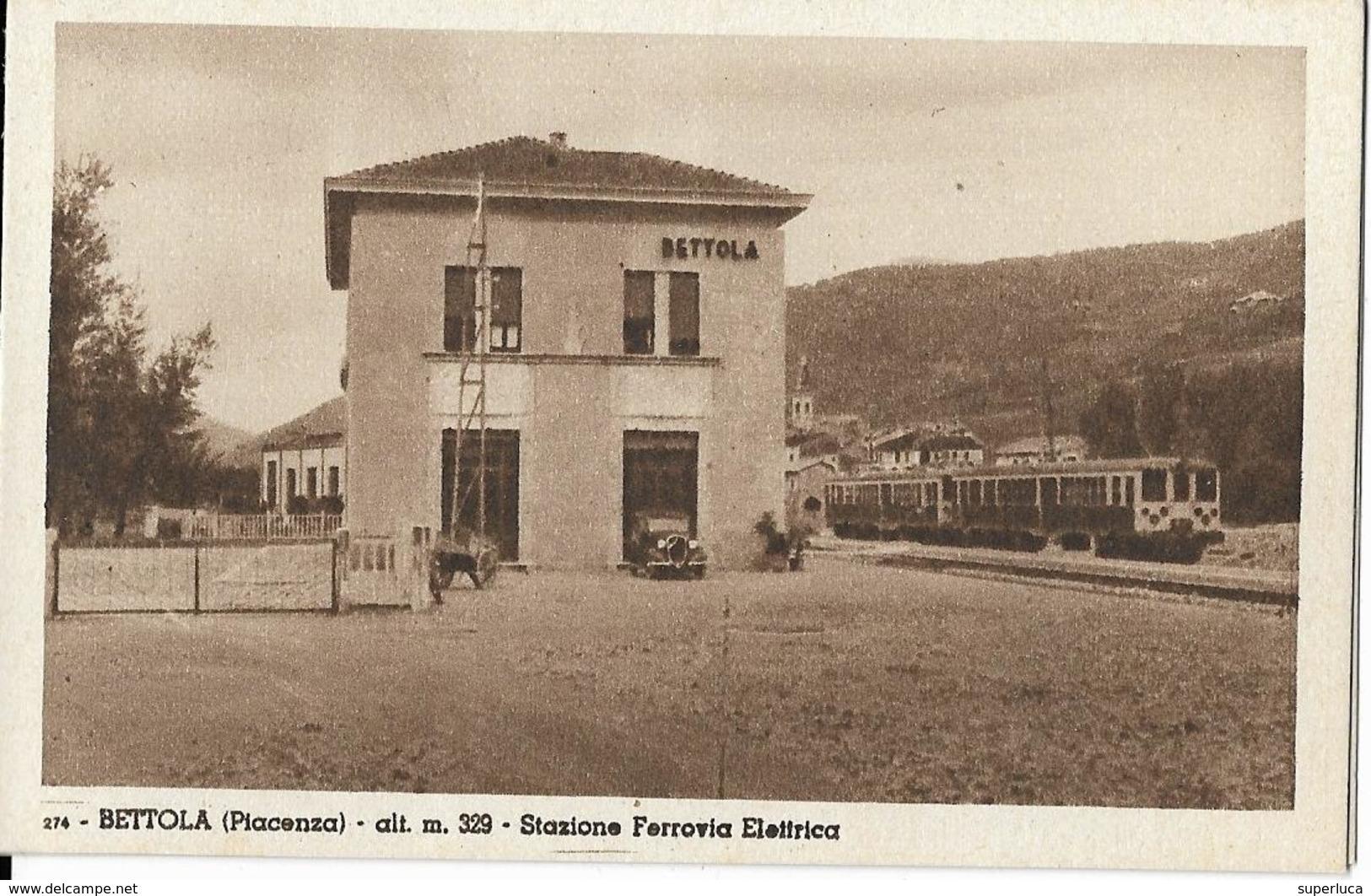 7-BETTOLA(PIACENZA)ALT.M.329-STAZIONE FERROVIA ELETTRICA - Bahnhöfe Mit Zügen