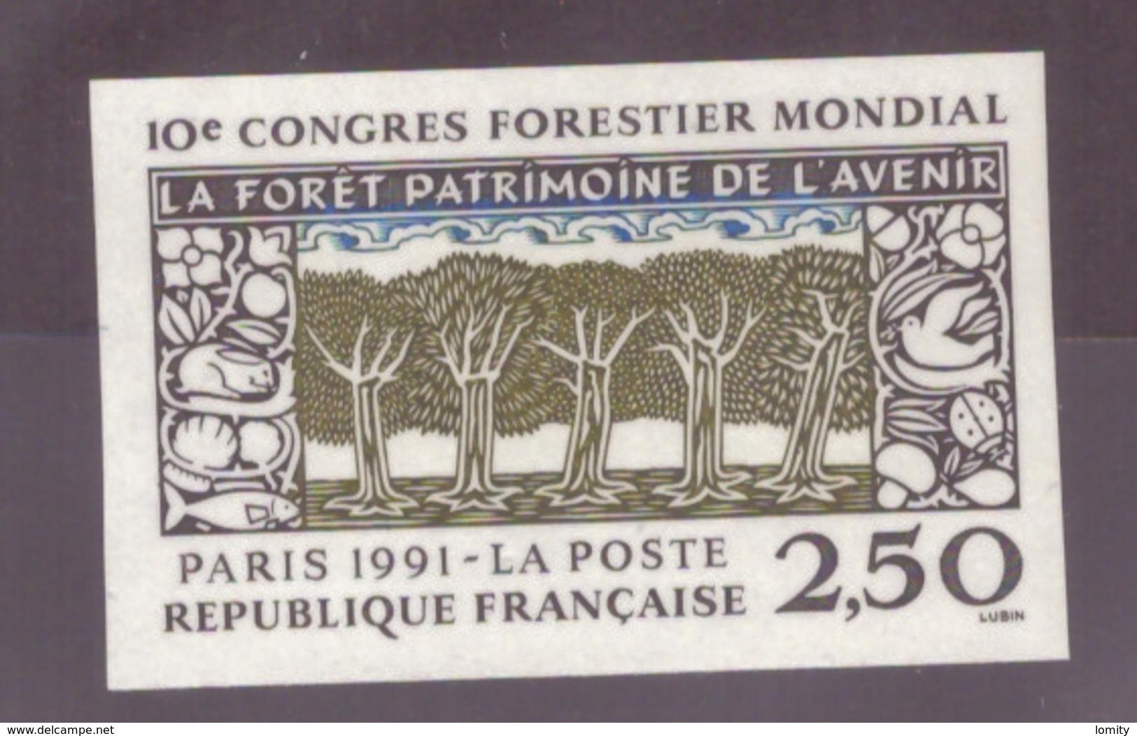 FRANCE - 1991 - NEUF** LUXE MNH - Yvert YT N° 2725a Congrès Forestier Mondial NON DENTELE Cote 18,50€ - Francia