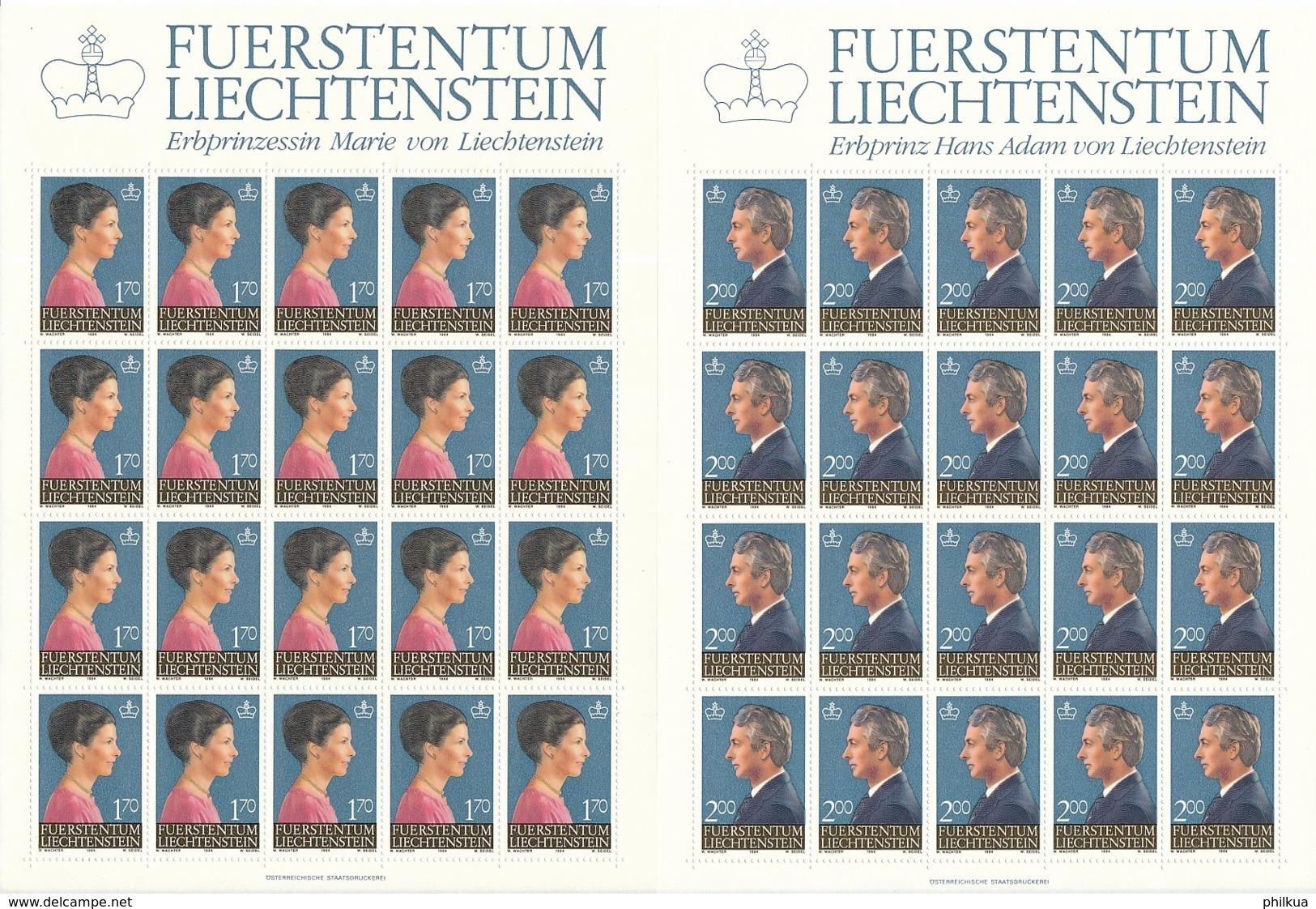Zumstein 803-804 / Michel 864-865 Bogen-Serie Einwandfrei Postfrisch/** - Blocks & Sheetlets & Panes