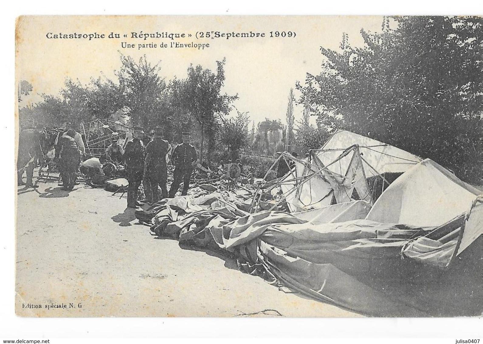 TREVOL (03) Accident Du Dirigeable République Partie De L'enveloppe - Other Municipalities