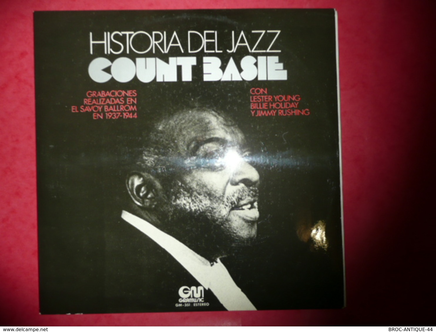 LP33 N°557 - COUNT BASIE - HISTORIA DEL JAZZ -  CON L. YOUNG, B. HOLIDAY & J. RUSHING - COMPILATION 13 TITRES - Jazz
