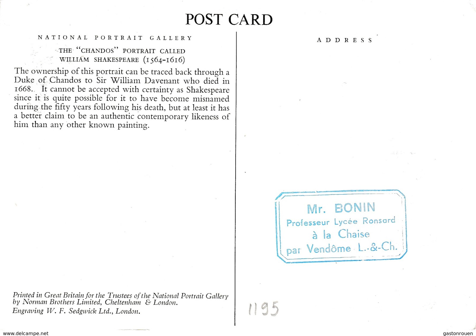 Carte Maximum Littérature Shakespeare Roumanie - Cartes-maximum (CM)