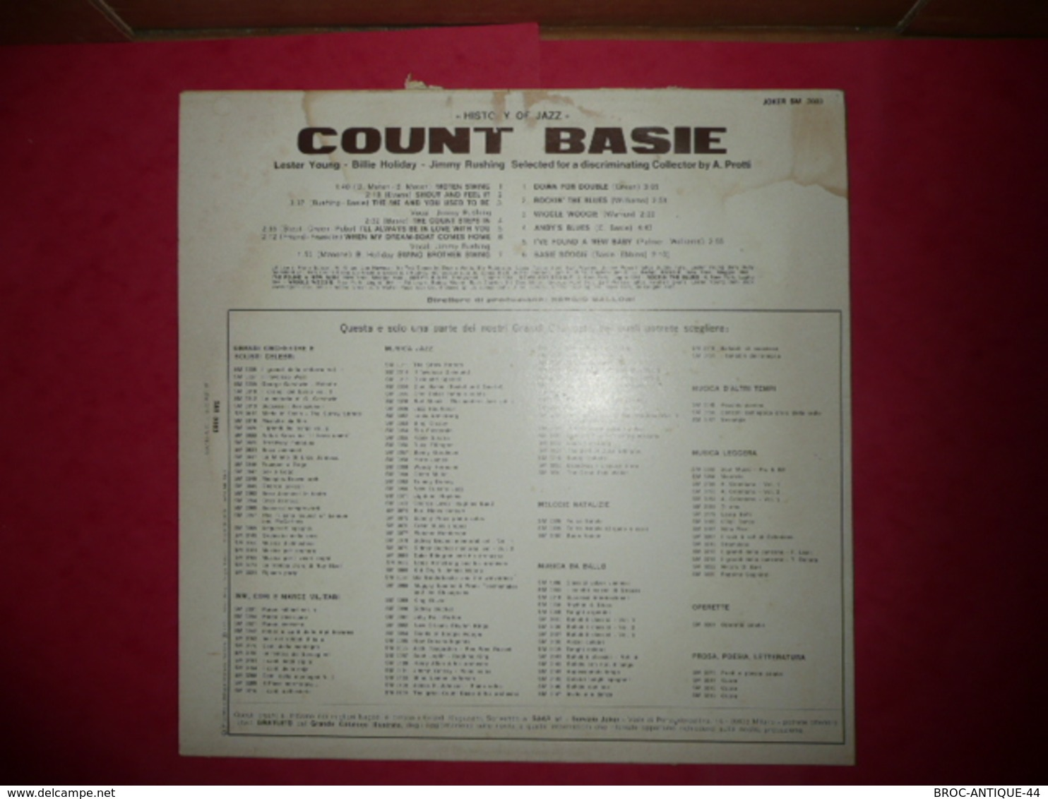 LP33 N°562 - COUNT BASIE AT SAVOY BALLROOM 1937-1944 - COMPILATION 13 TITRES - Jazz
