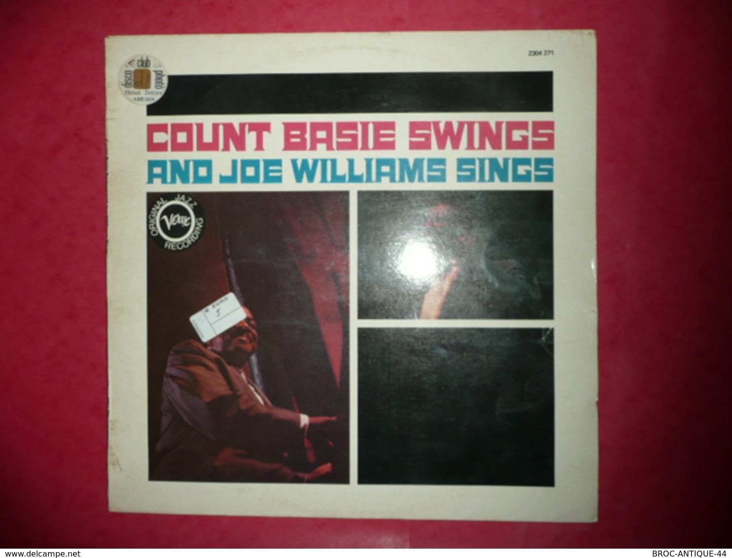 LP33 N°570 - COUNT BASIE SWINGS AND JOE WILLIAMS SWINGS - COMPILATION 9 TITRES - Jazz
