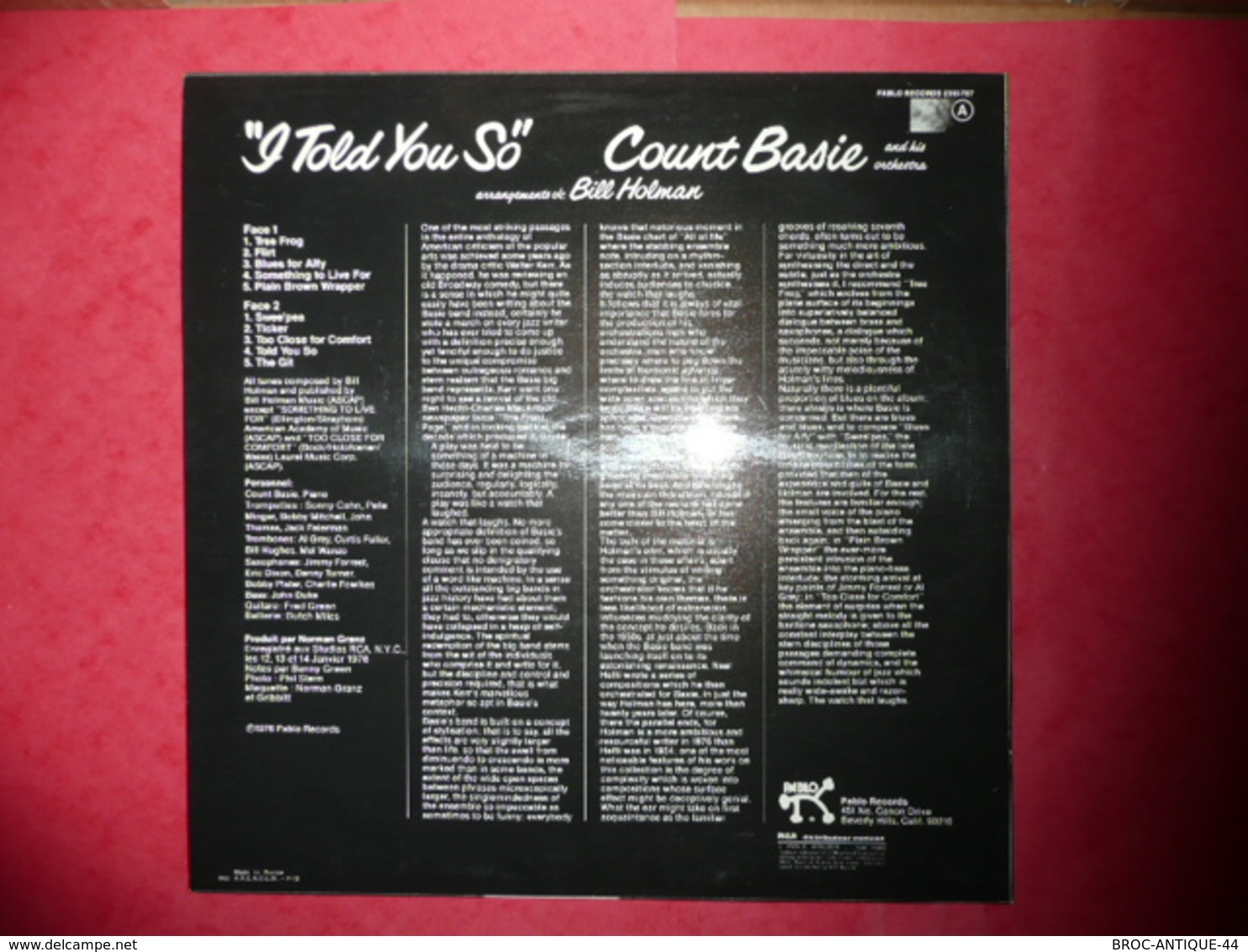LP33 N°575 - COUNT BASIE - I TOLD YOU SO - COMPILATION 10 TITRES - Jazz