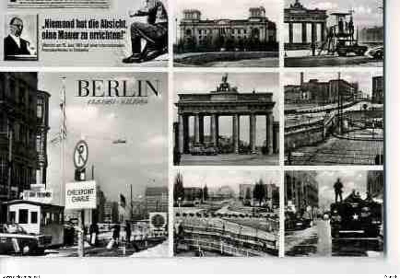 D640 - BERLIN - Mauerbau 1961 - Berliner Mauer