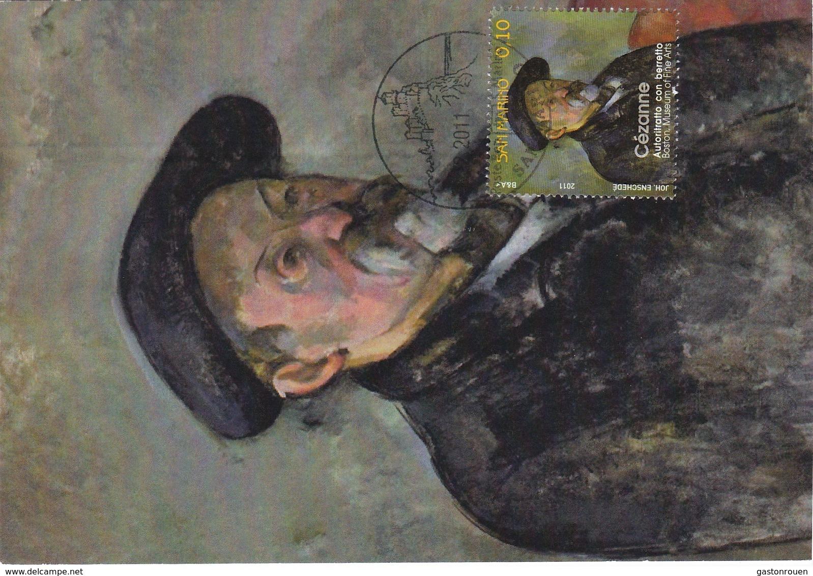 Carte Maximum Peinture San Marin Marino 2011 Cézanne - Saint-Marin
