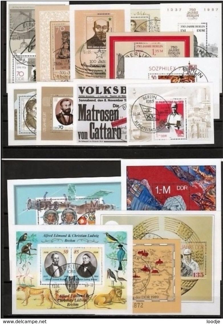 Oost-Duitsland Blokken Collection Gestempeld Very Fine Used Sheets - [6] Oost-Duitsland