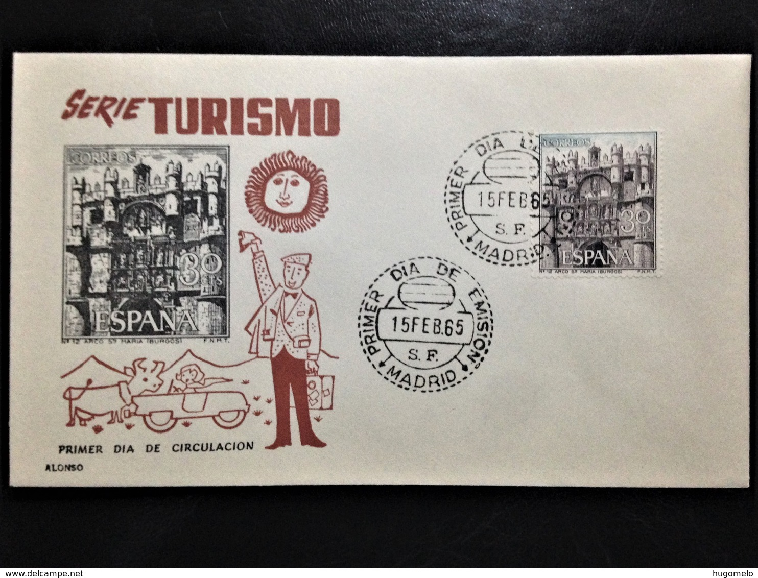 """Spain, Uncirculated FDC, """"Tourism"""", Madrid, 1965 - FDC"""