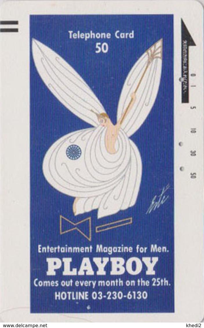 Télécarte Ancienne Japon / 110-20131 - Magazine PLAYBOY - LAPIN & Femme - Erotic Rabbit Japan Front Bar Phonecard - 6322 - Japan