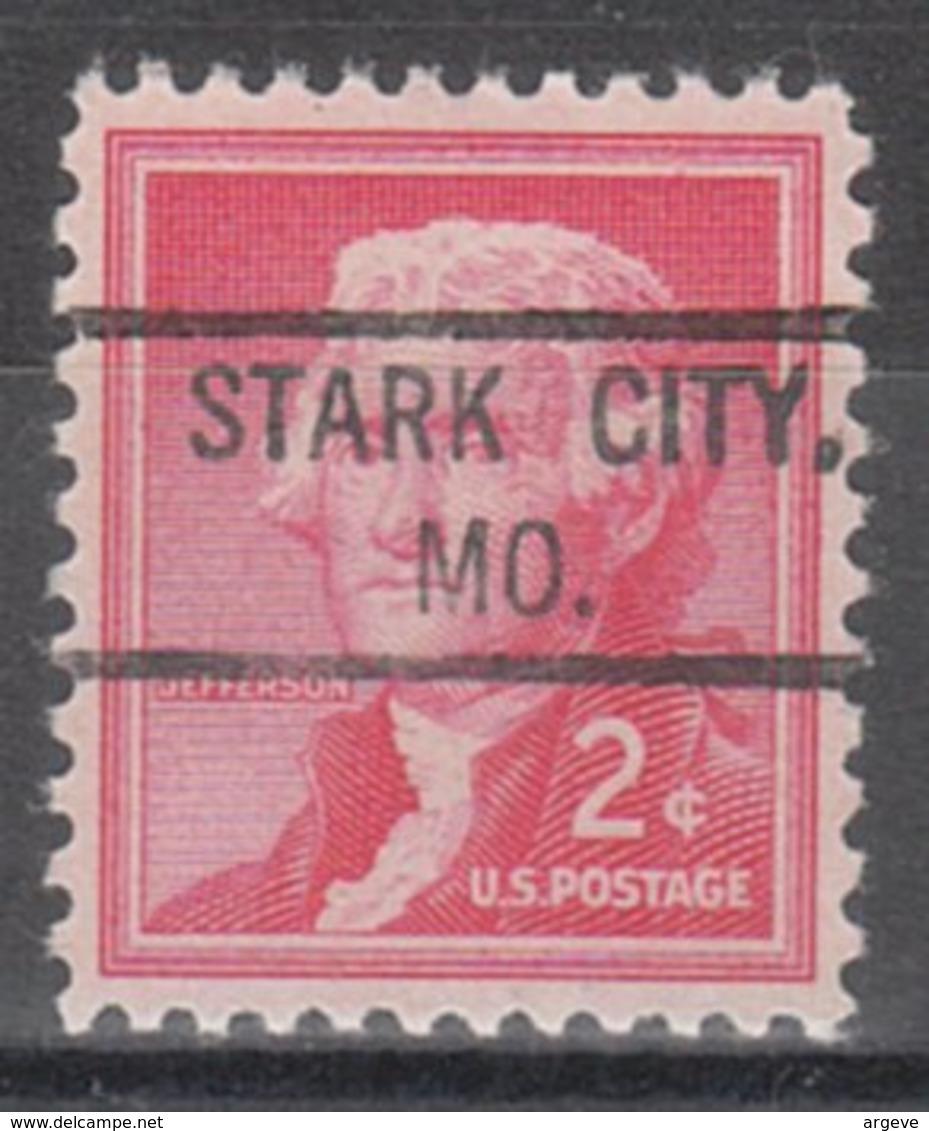 USA Precancel Vorausentwertung Preo, Locals Missouri, Stark City 804 - Vereinigte Staaten