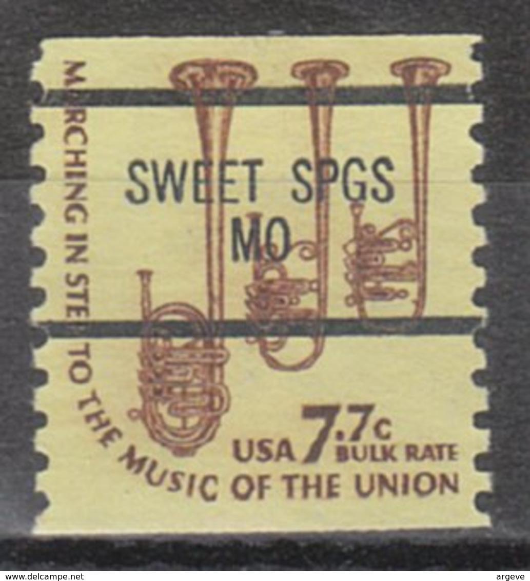 USA Precancel Vorausentwertung Preo, Bureau Missouri, Sweet Springs 1614-87 - Vereinigte Staaten