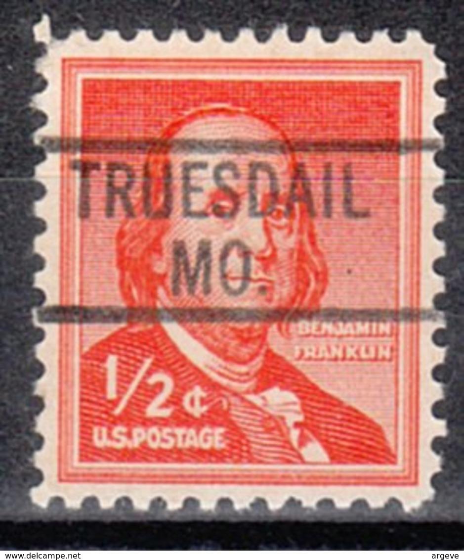 USA Precancel Vorausentwertung Preo, Locals Missouri, Truesdail 819 - Vereinigte Staaten