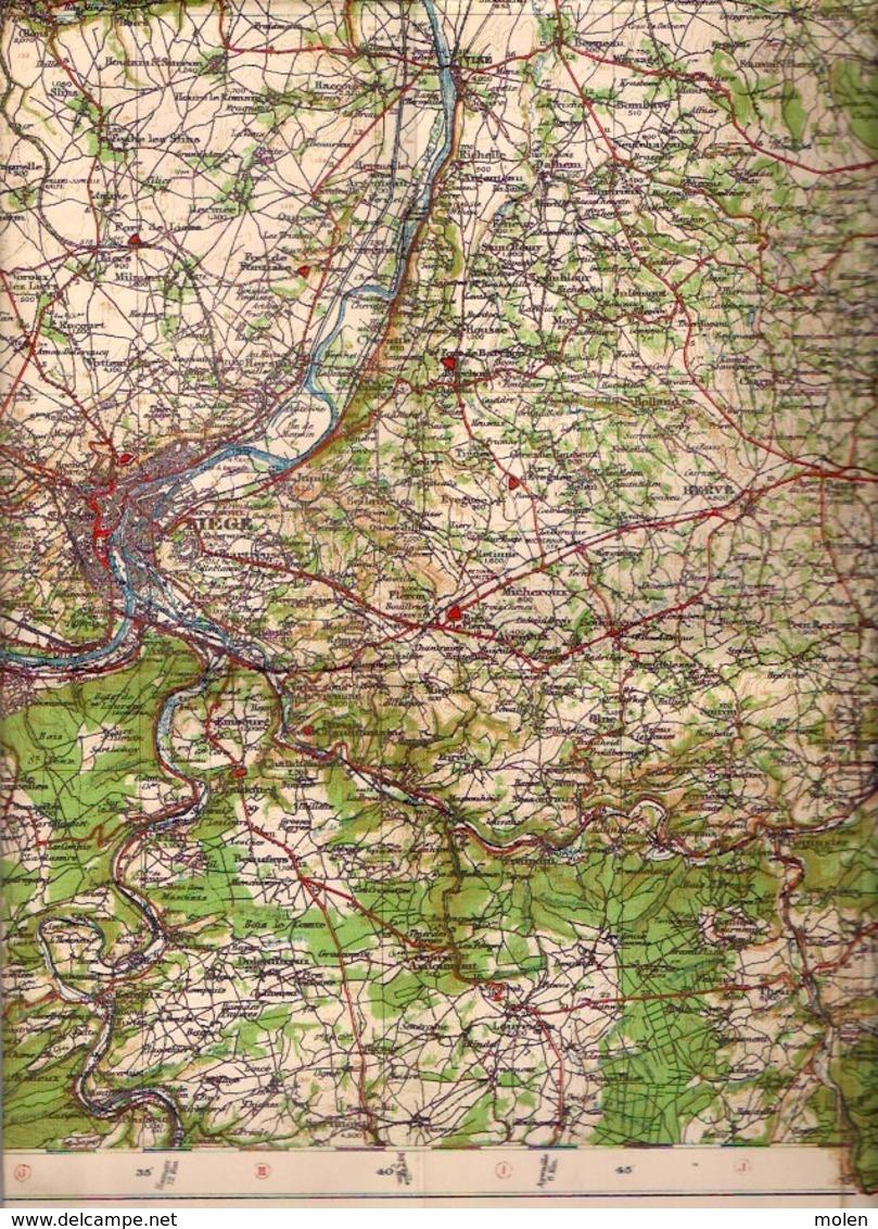 ©1919 LIEGE CARTE D ETAT MAJOR Entoillée WAR OFFICE HASSELT MAASTRICHT DIEST SINT-TRUIDEN VERVIERS SERAING AMAY HUY S826 - Cartes Topographiques
