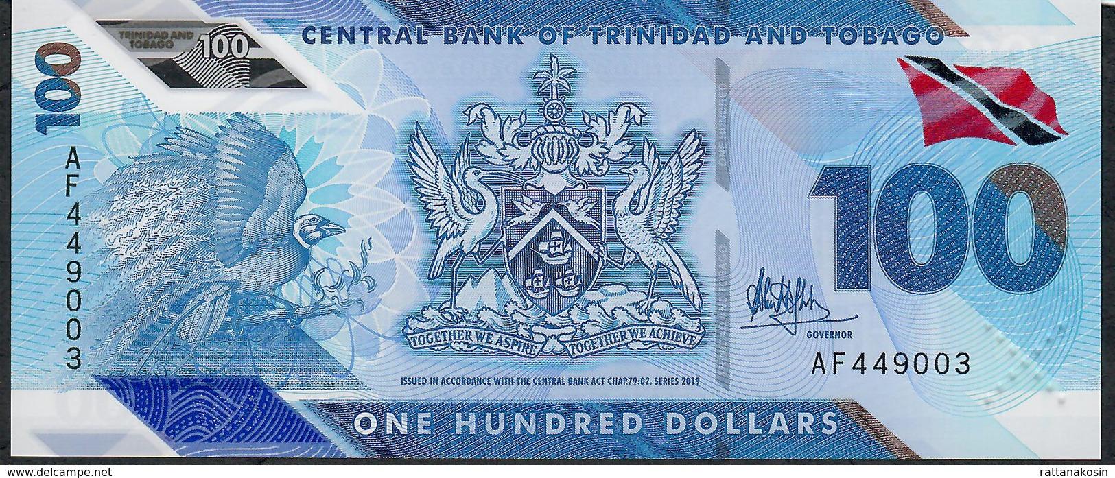 TRINIDAD AND TOBAGO NLP 100 DOLLARS 2019 #AF  POLYMER SUBSTRATE ( Issued December 2019 ) UNC. - Trinidad & Tobago