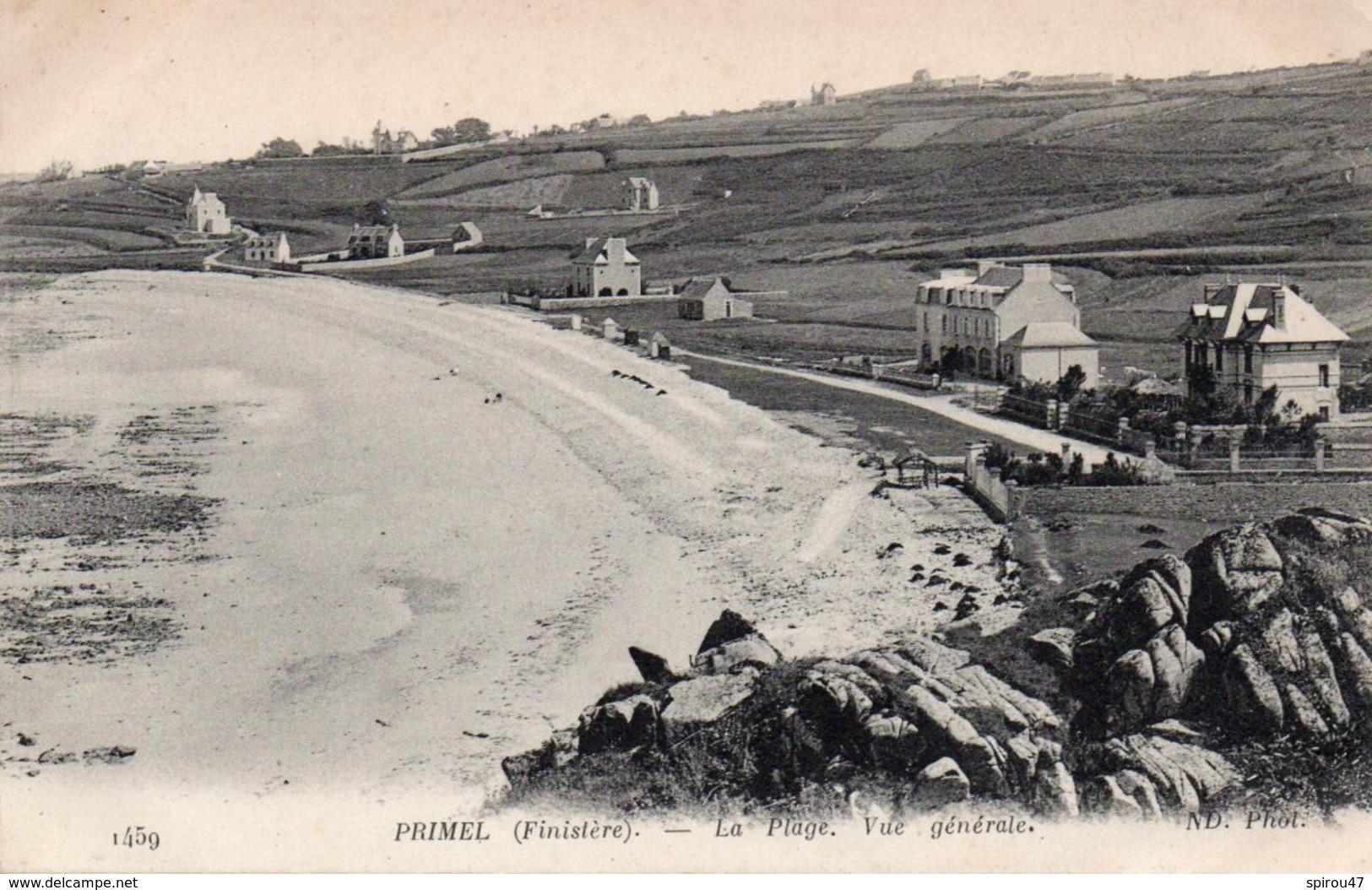 CPA PRIMEL - LA PLAGE - VUE GENERALE - Primel